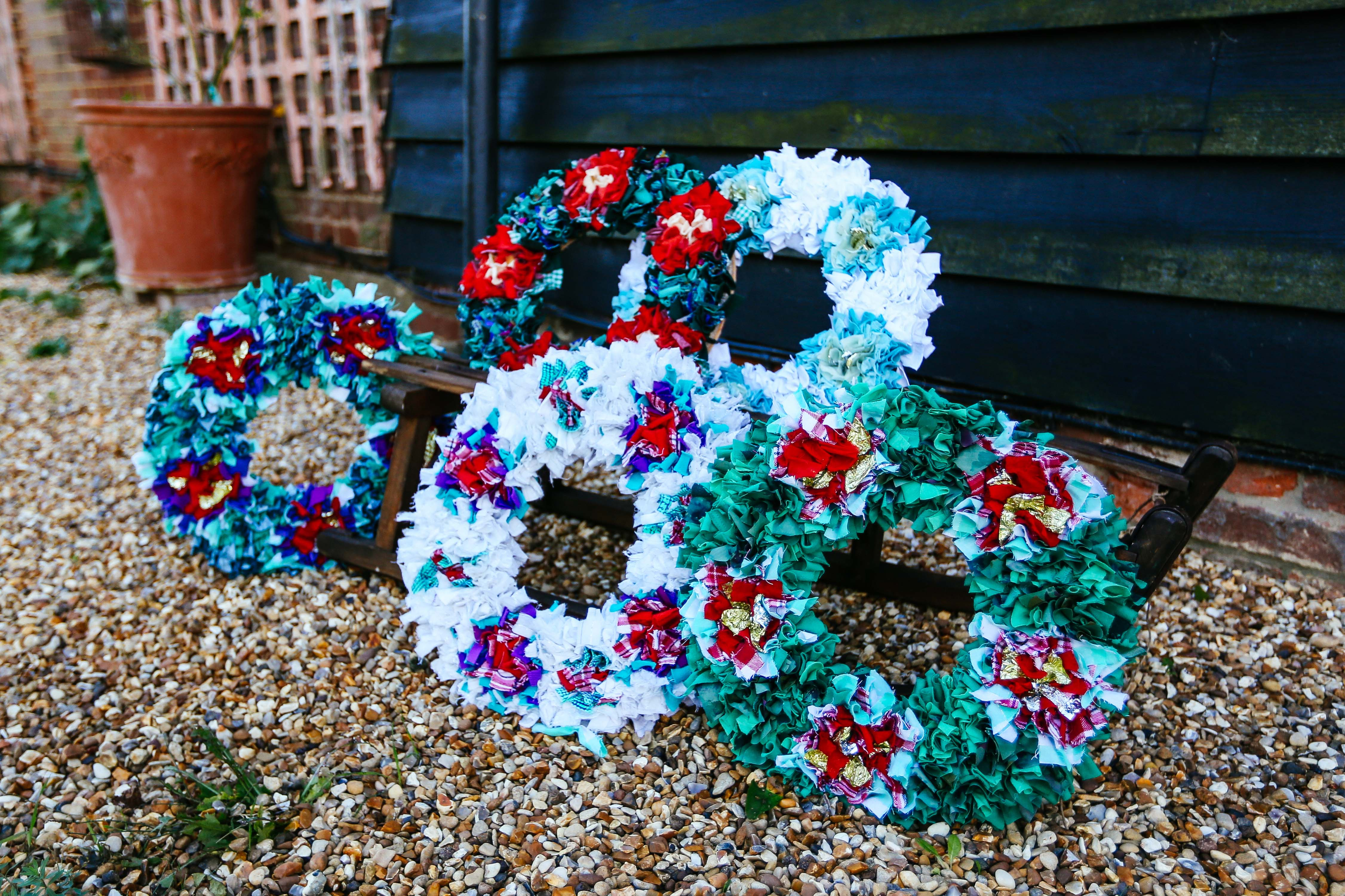 Rag Rug Christmas Wreaths