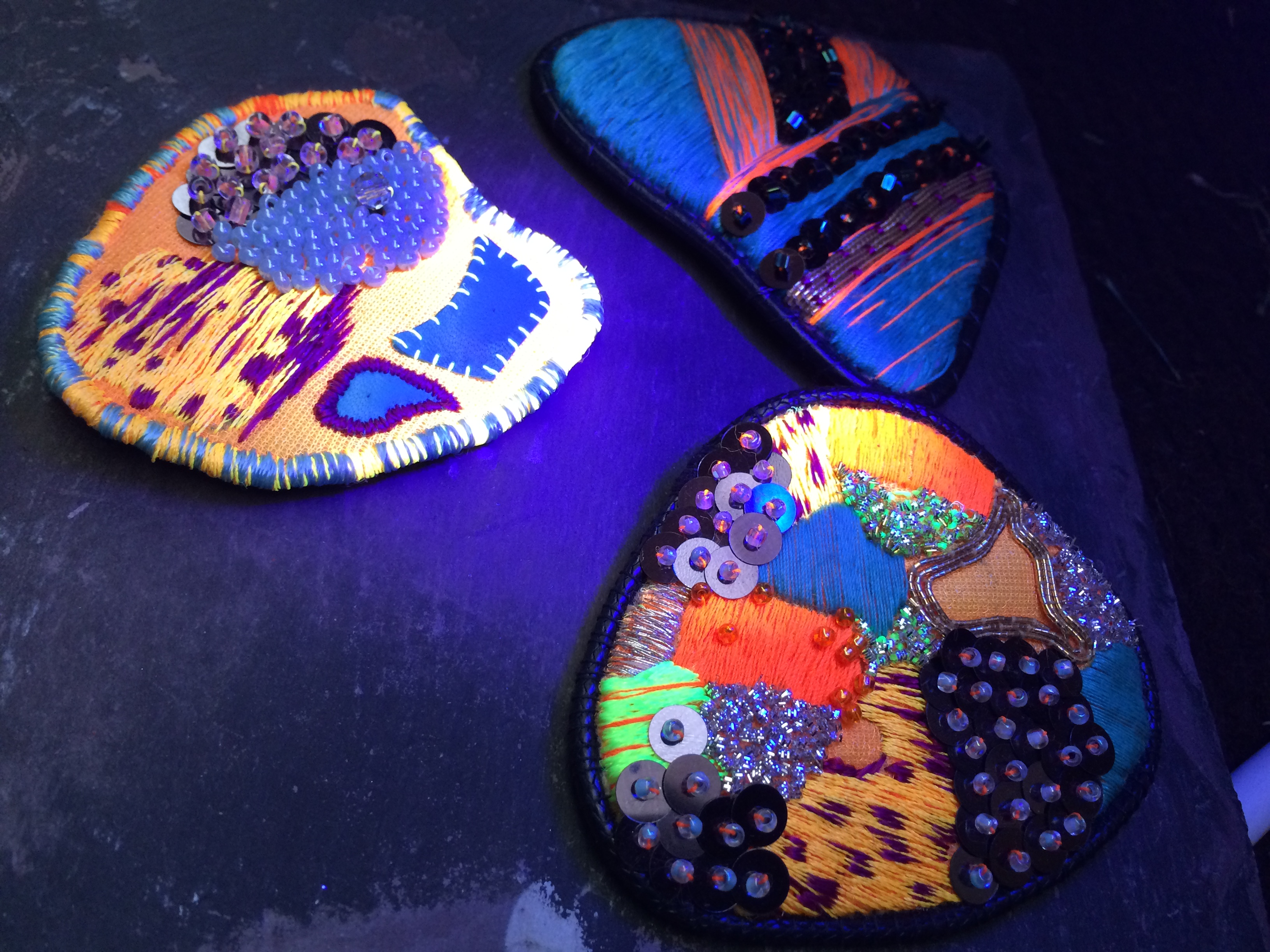 Luminescent Brooches