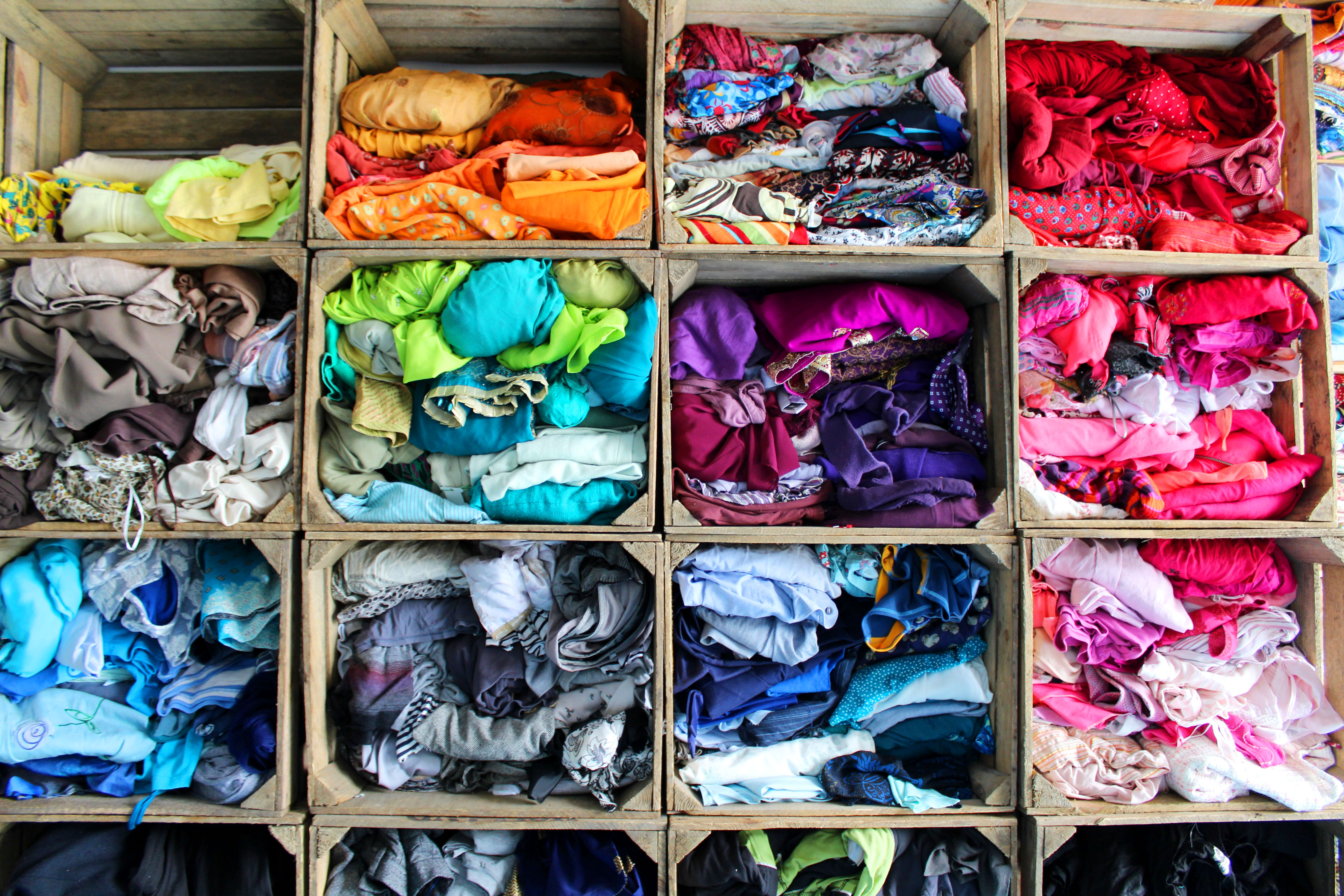 Fabric in Crates