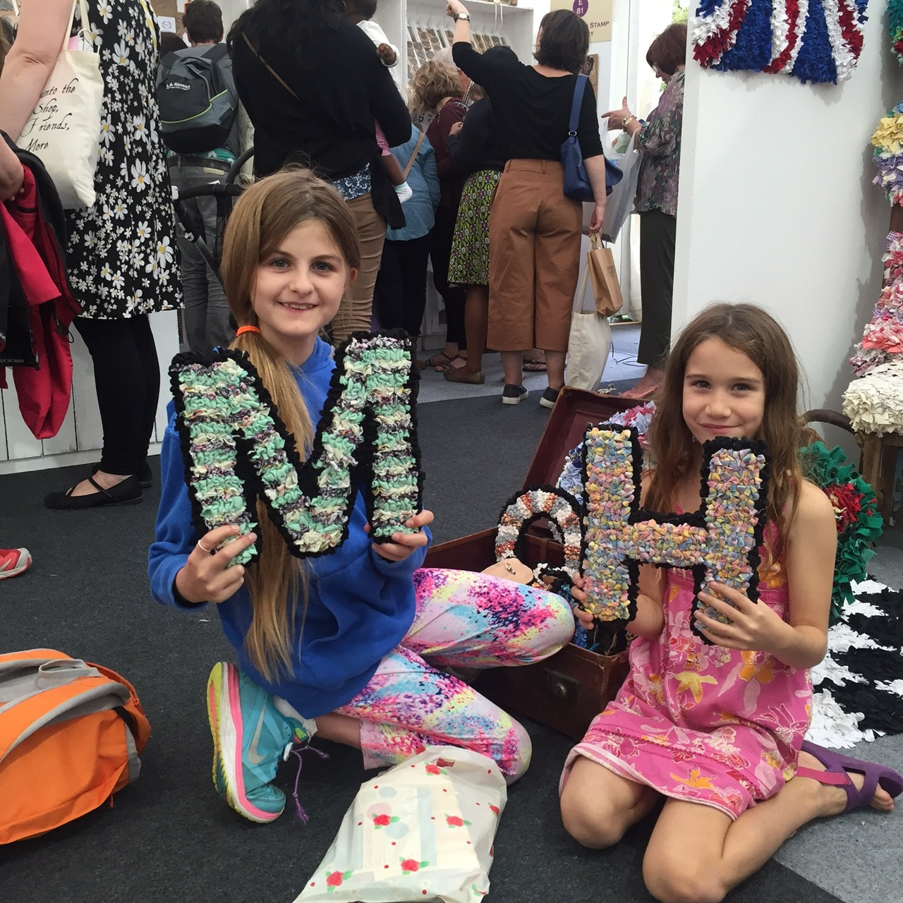 Rag Rug Letters Girls