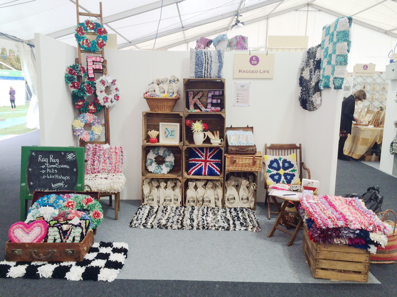Ragged Life Stall at the Kirstie Allsopp Handmade Fair 2015 at Hampton Court Palace
