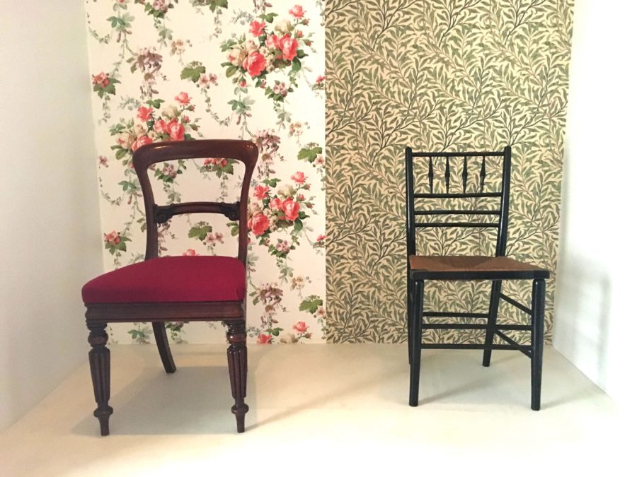 William Morris Wallpaper Chairs
