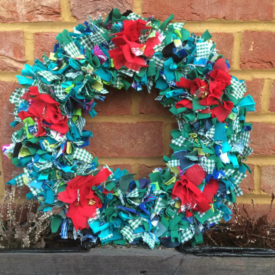 Students' Rag Rug Wreaths - Ragged Life