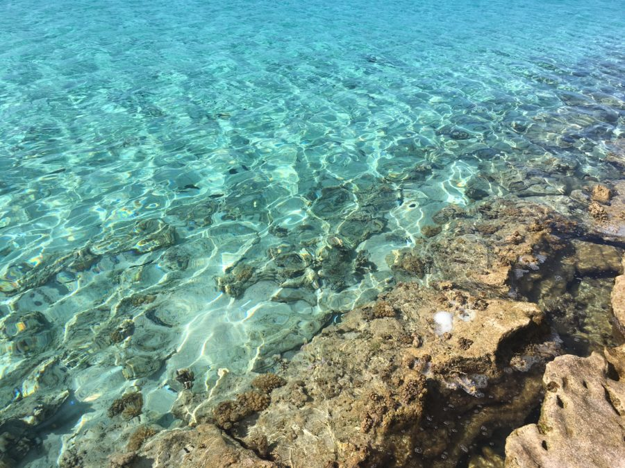 Crystal Clear Water on One Foot Island