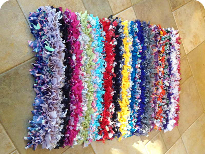 Gillian's Colourful Rag Rug