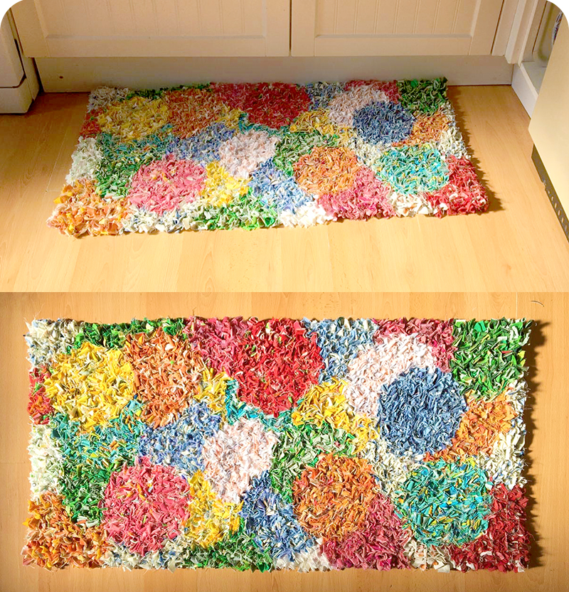 Easy to make spring rag rug