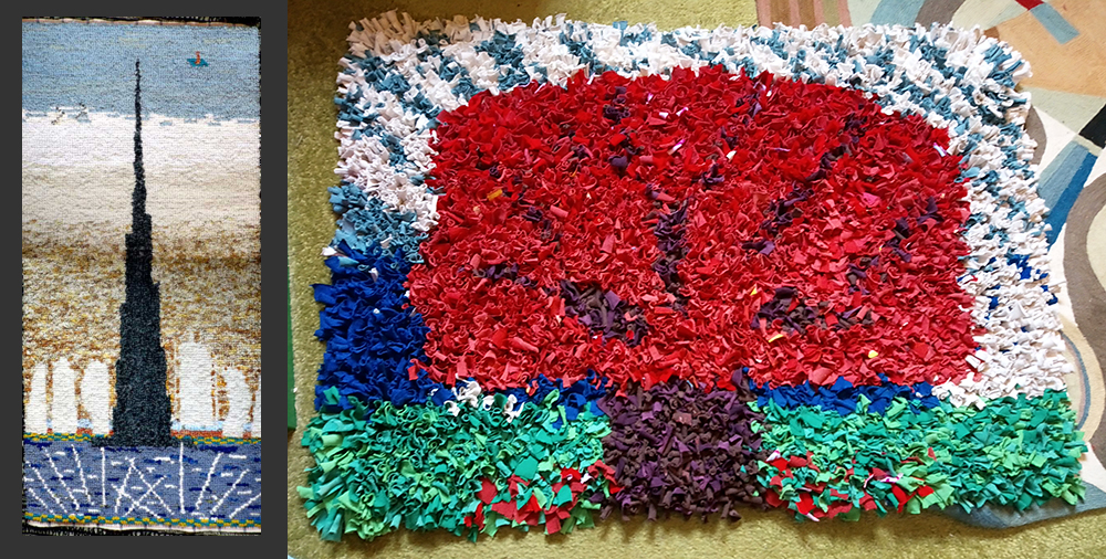 Dubai rag rug and tree proggy rag rug