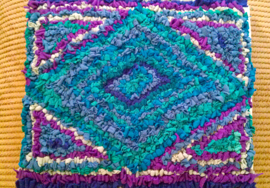 Diamond Rag Rug Cushion