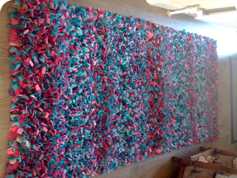 Rose's Shaggy Rag Rug
