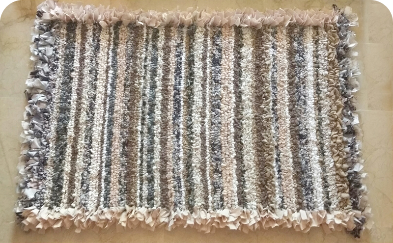 Sandra Loopy and Shaggy Rag Rug