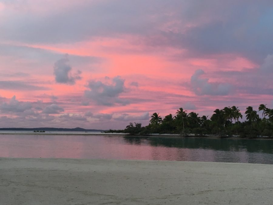 Sunset One Foot Island Aitutaki