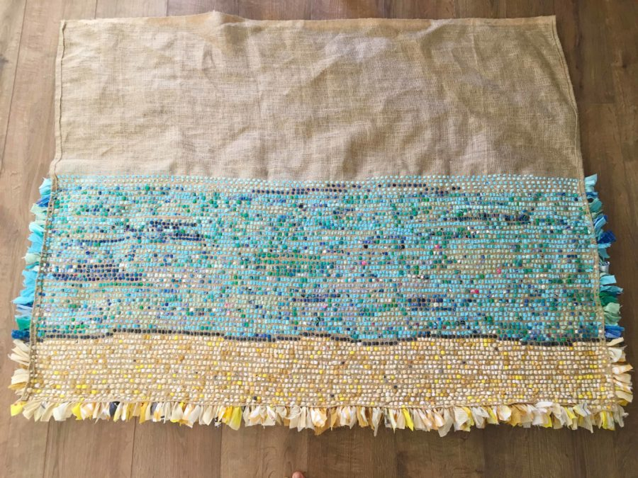 Back of Rag Rug