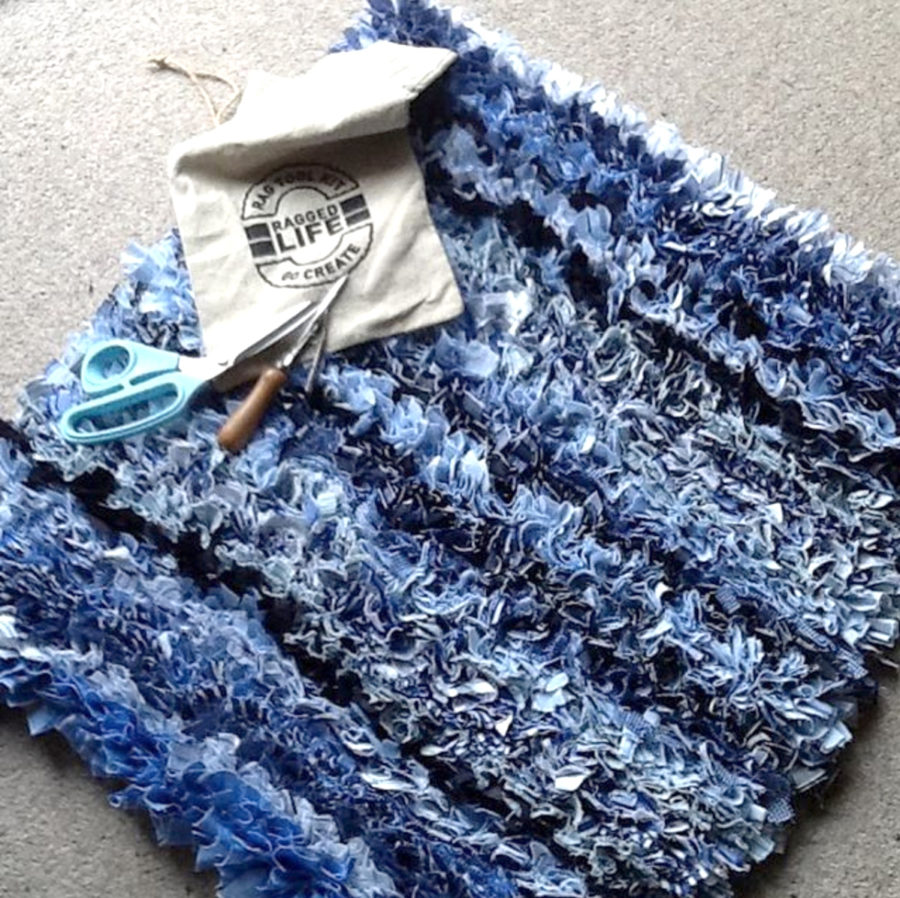 Stripey Shirt Rag Rug