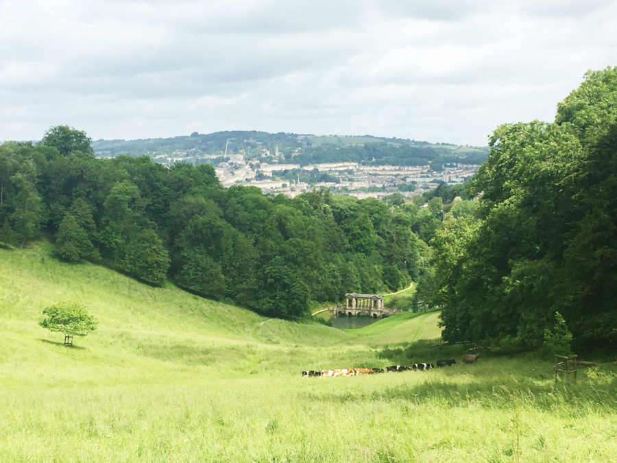 The view over Prior Park in Bath