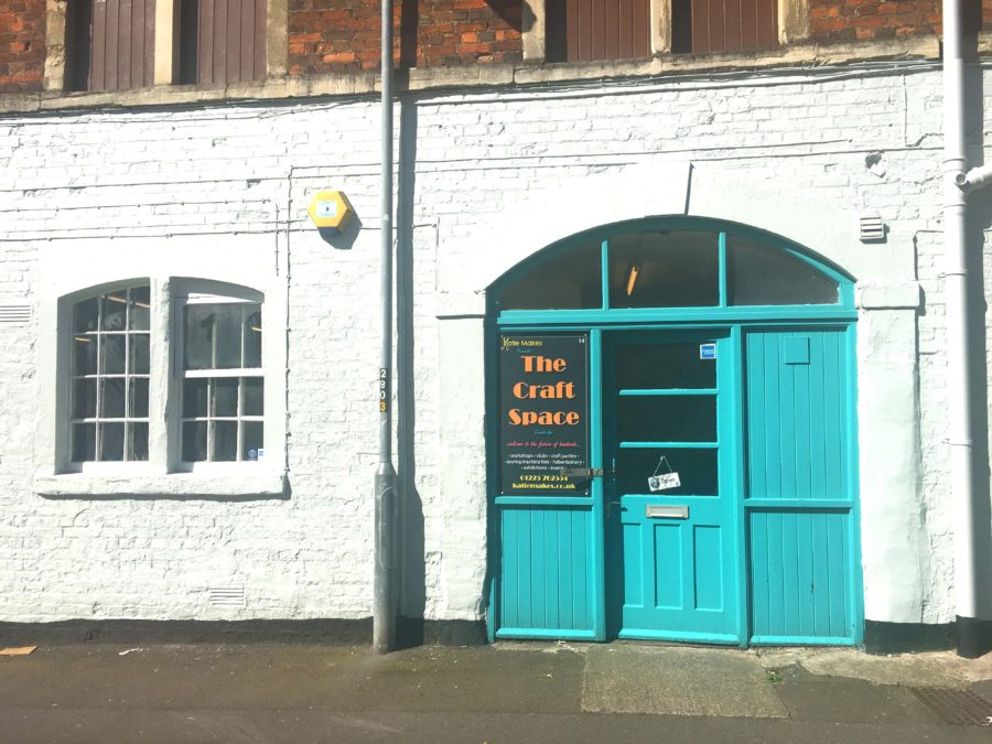 The blue door to the Craft Space in Trowbridge Wiltshire
