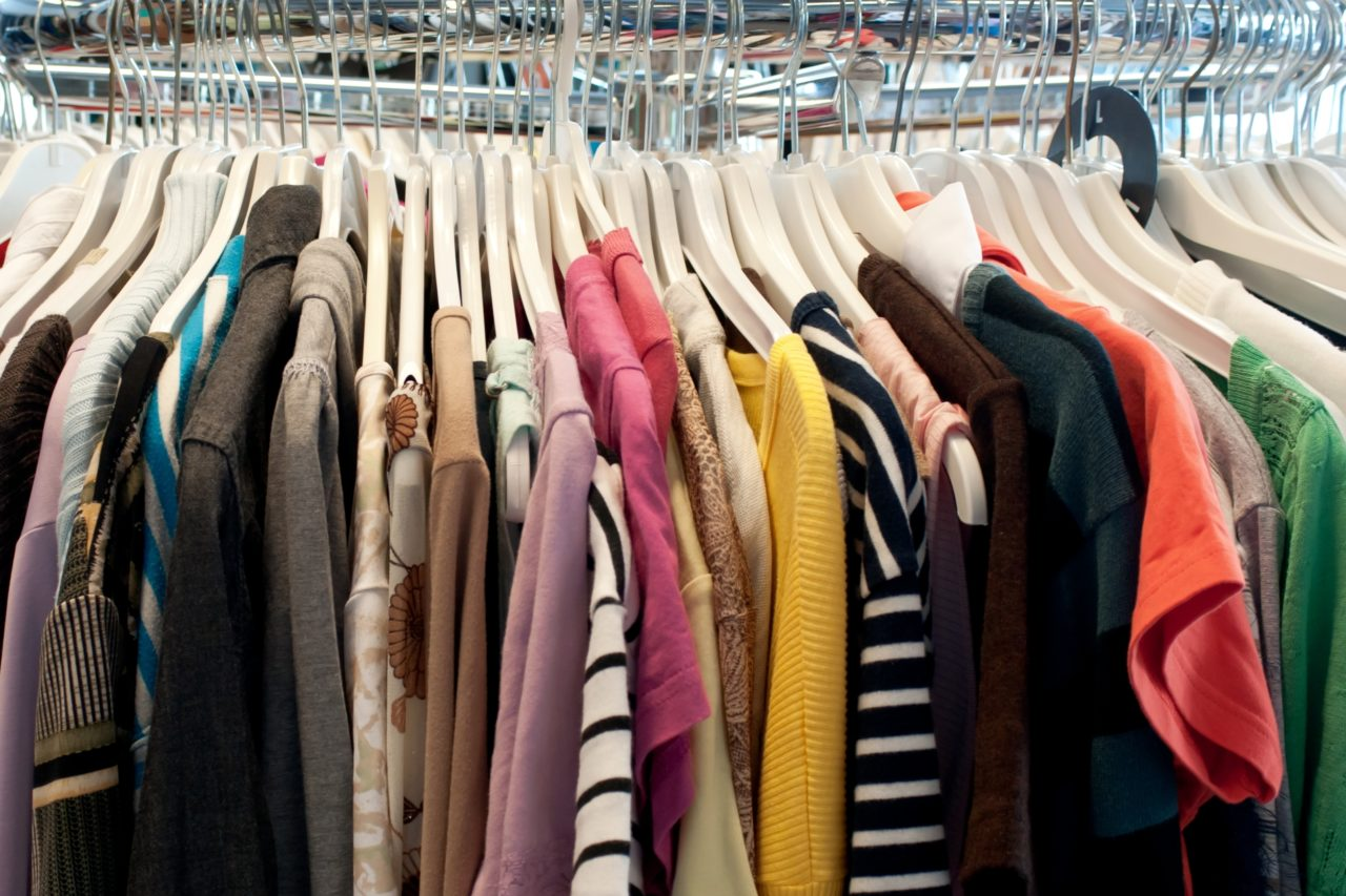 Clothes on Rail Decluttering