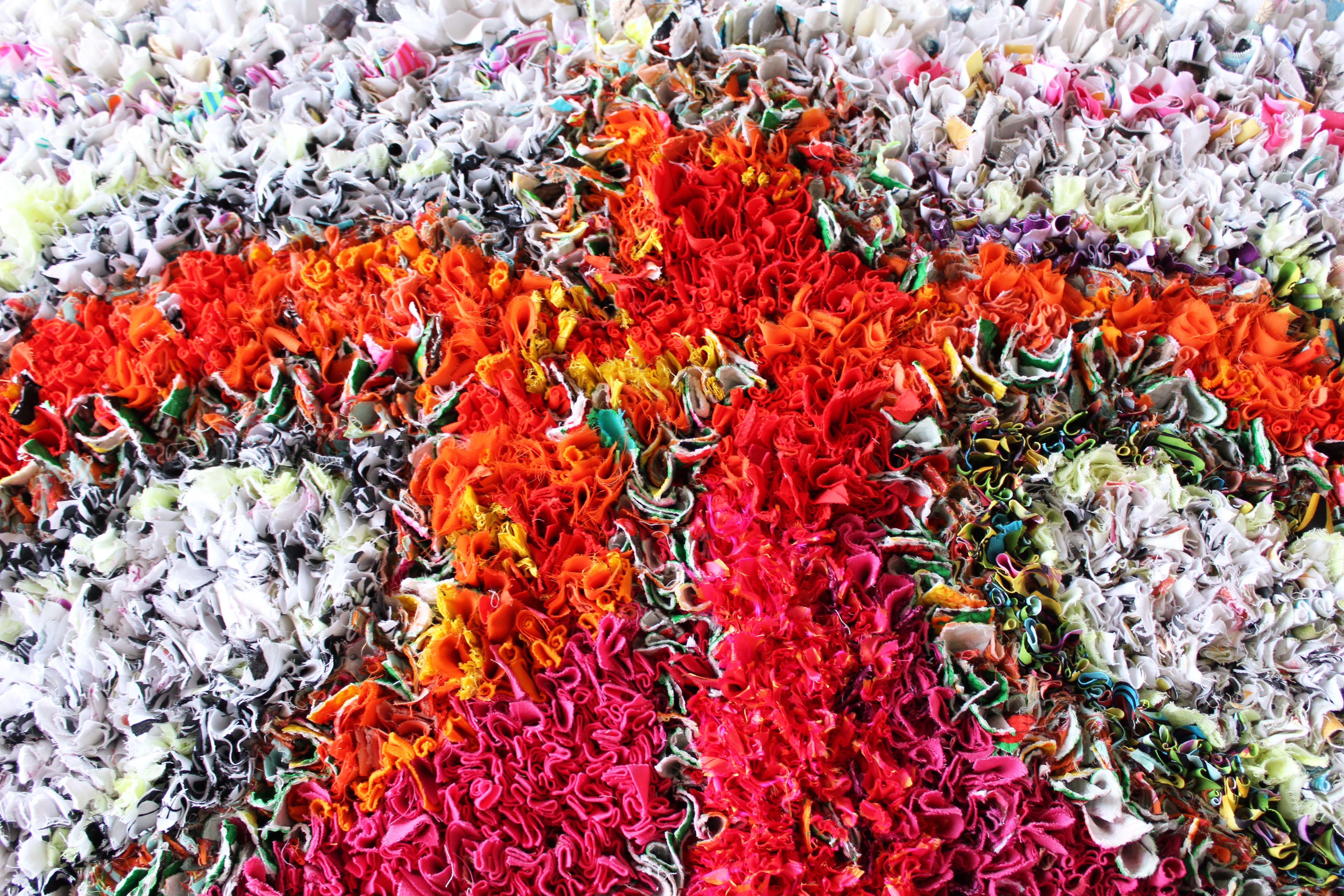 Beautiful Rag Rug Colours Blended together