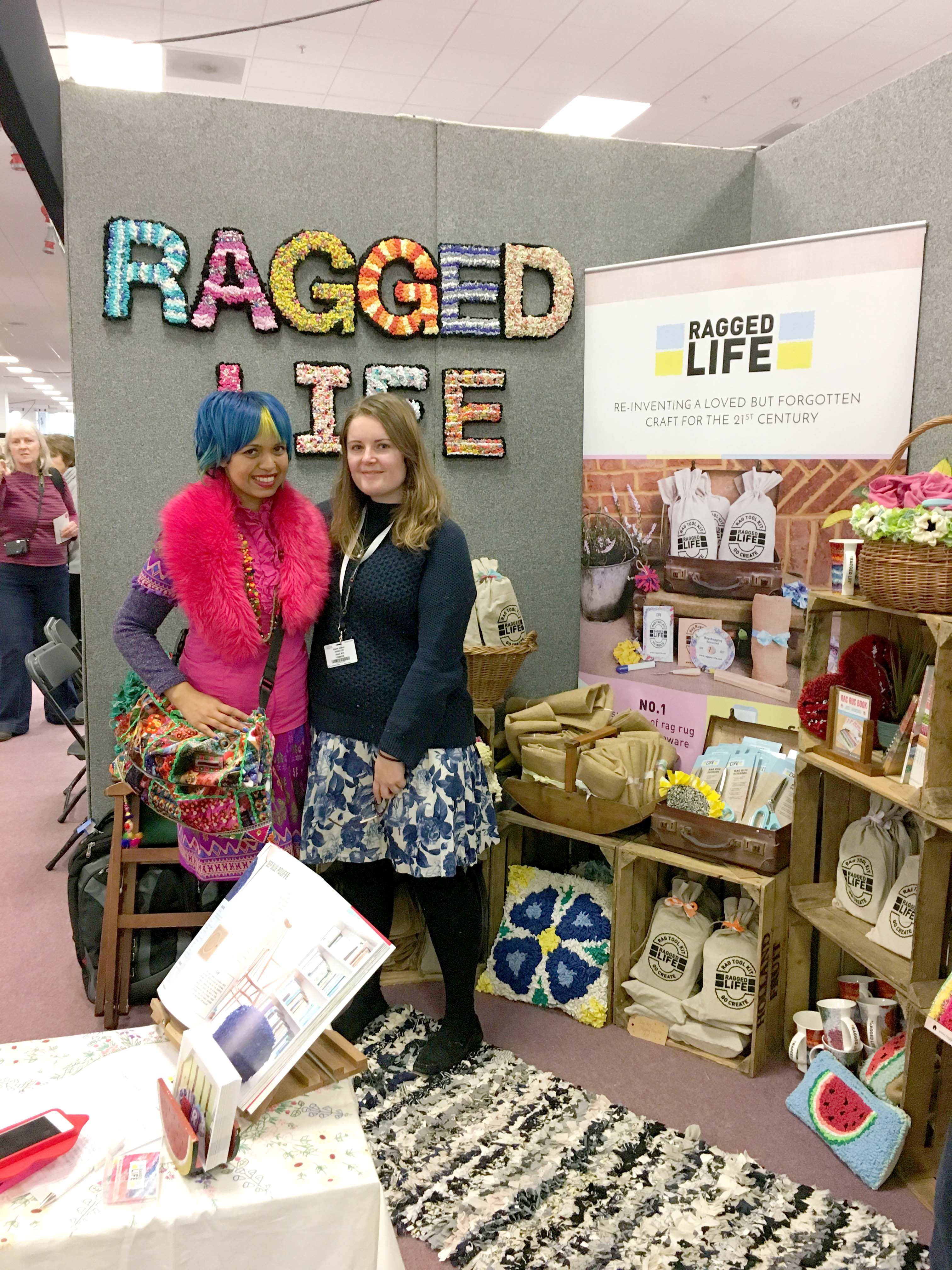 Elspeth Jackson from Ragged Life with Momtaz from Craft Cafe