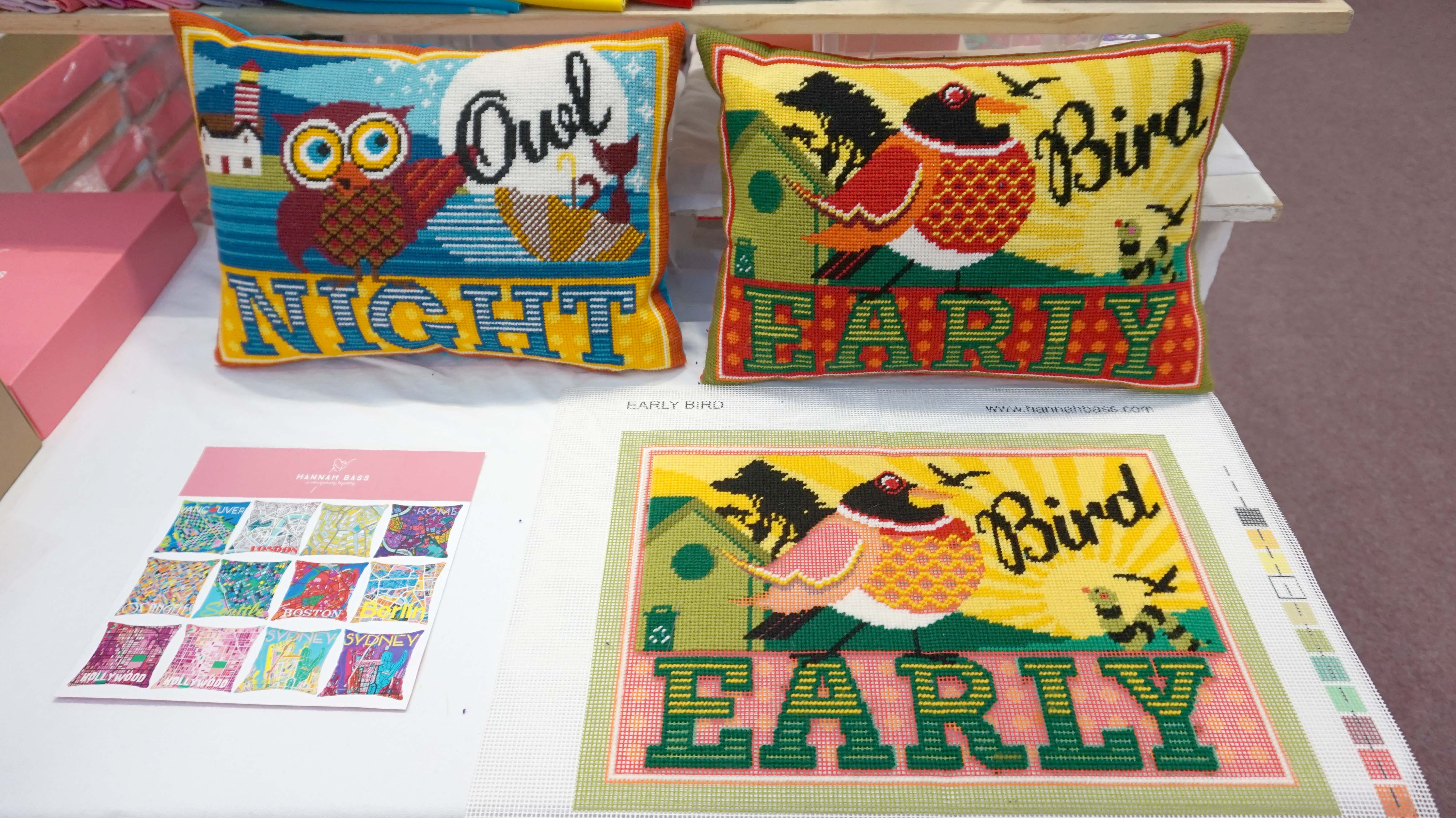 Early Bird and Night Owl Cushions