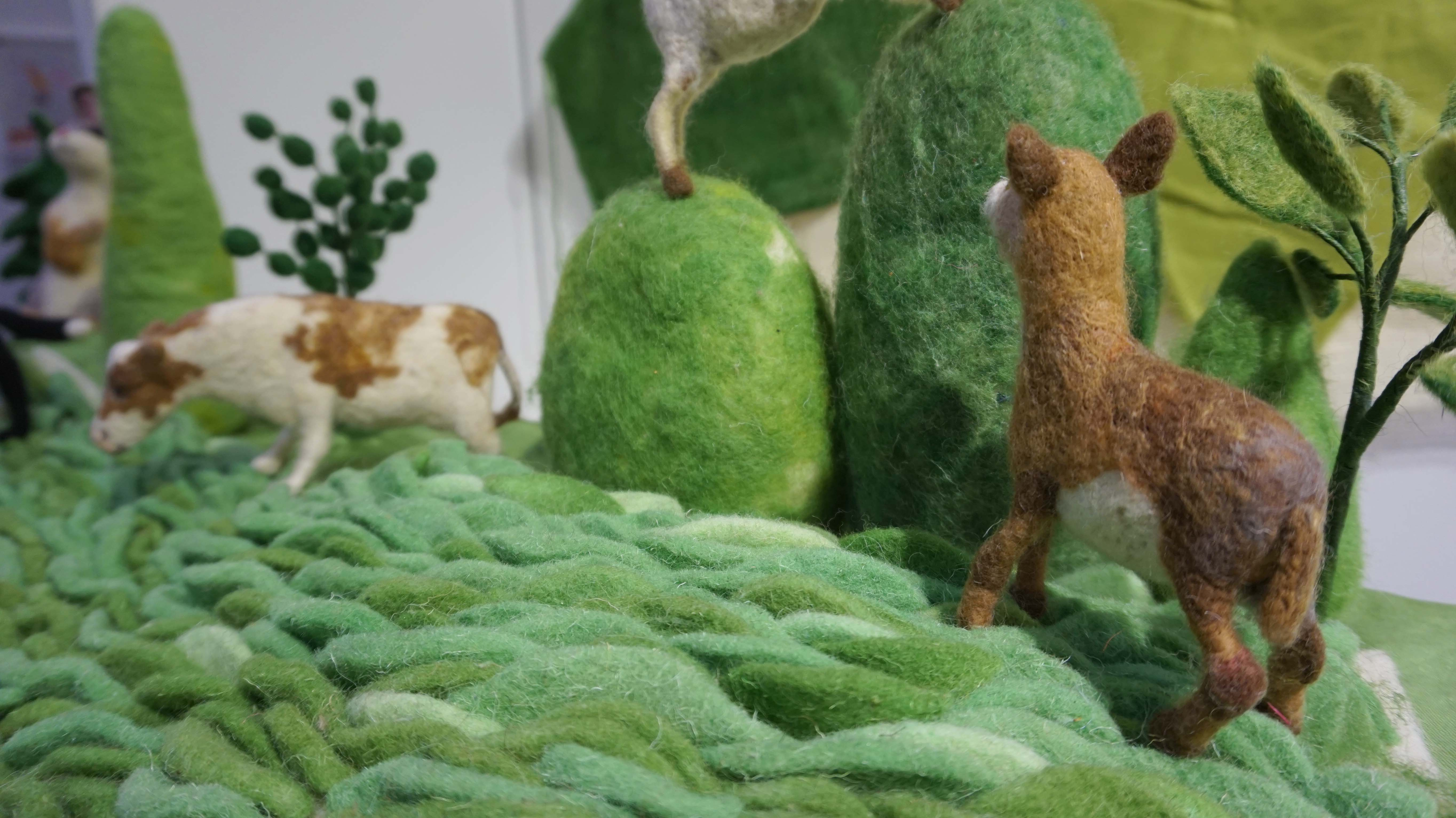 Needle Felting at the Knitting and Stitching Show 2017