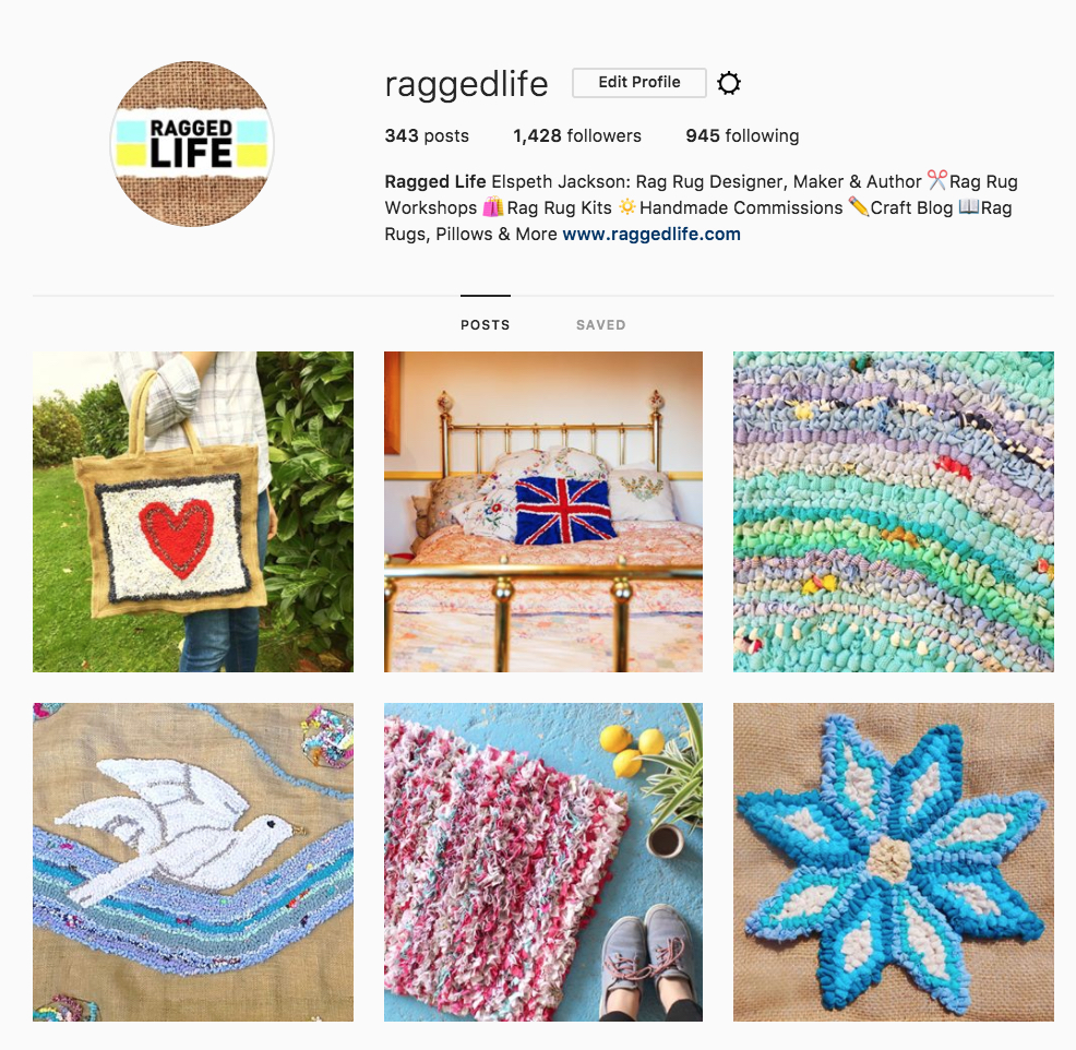 Ragged Life Rag Rug Inspiration on Instagram