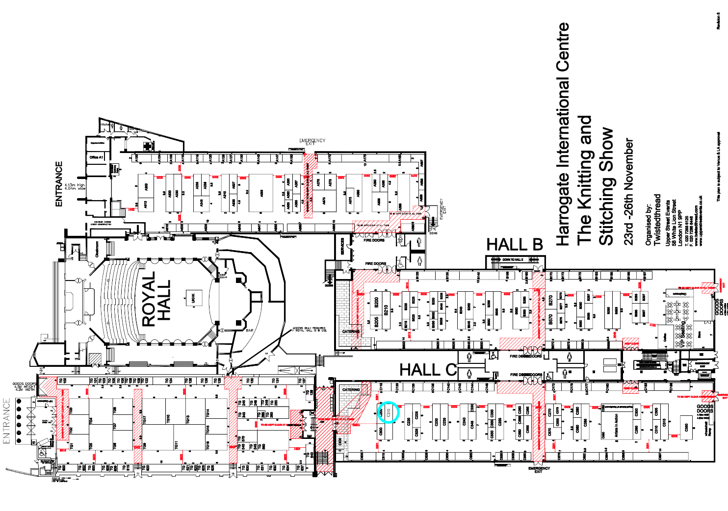 The location of the Ragged Life stand at the Harrogate Knitting & Stitching Show
