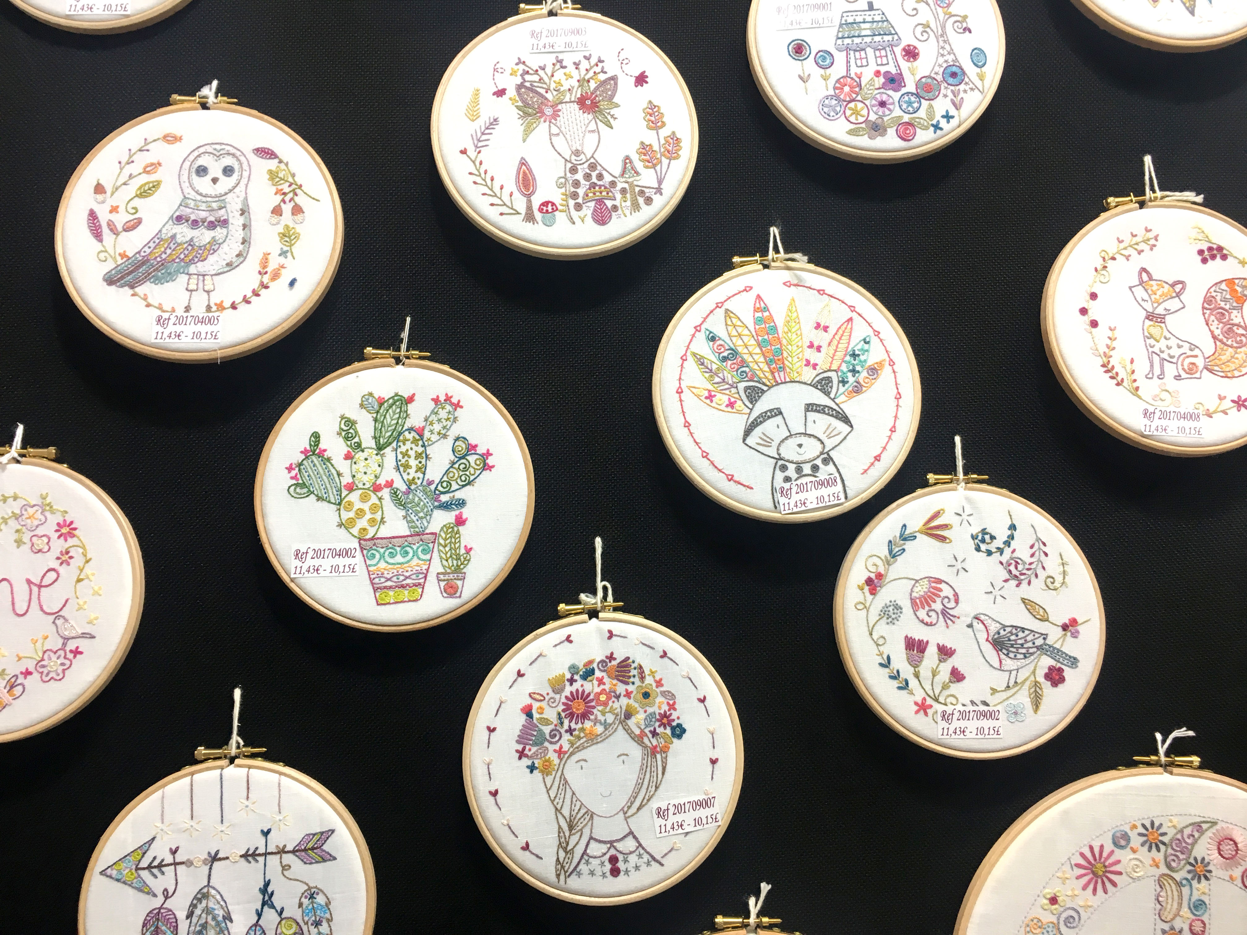 French Hand Embroidery from CHSI Stitches in Birmingham Un chat dans l'aiguille