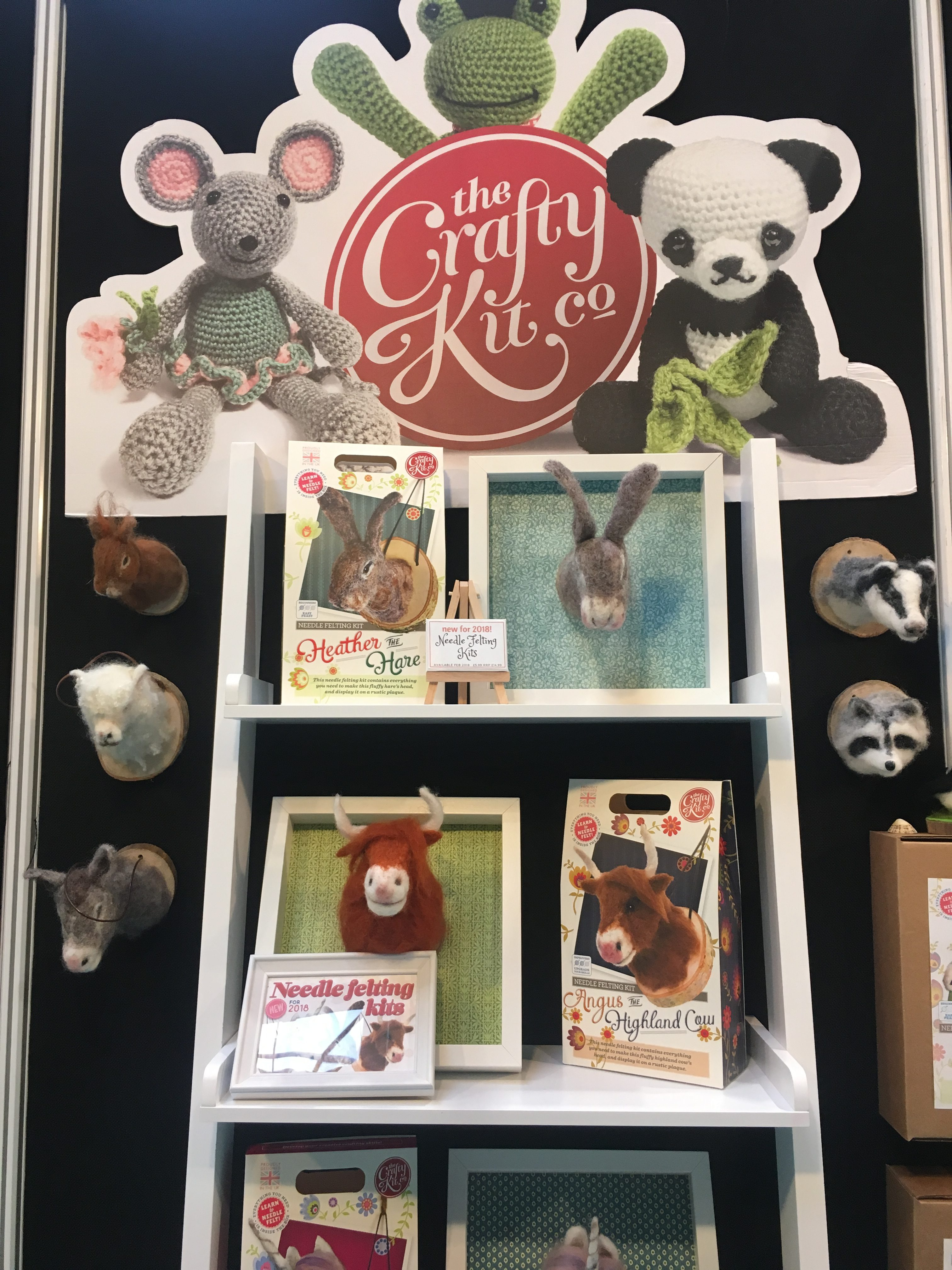 The Crafty Kit Company Needle Felting Kits on Display in Birmingham show