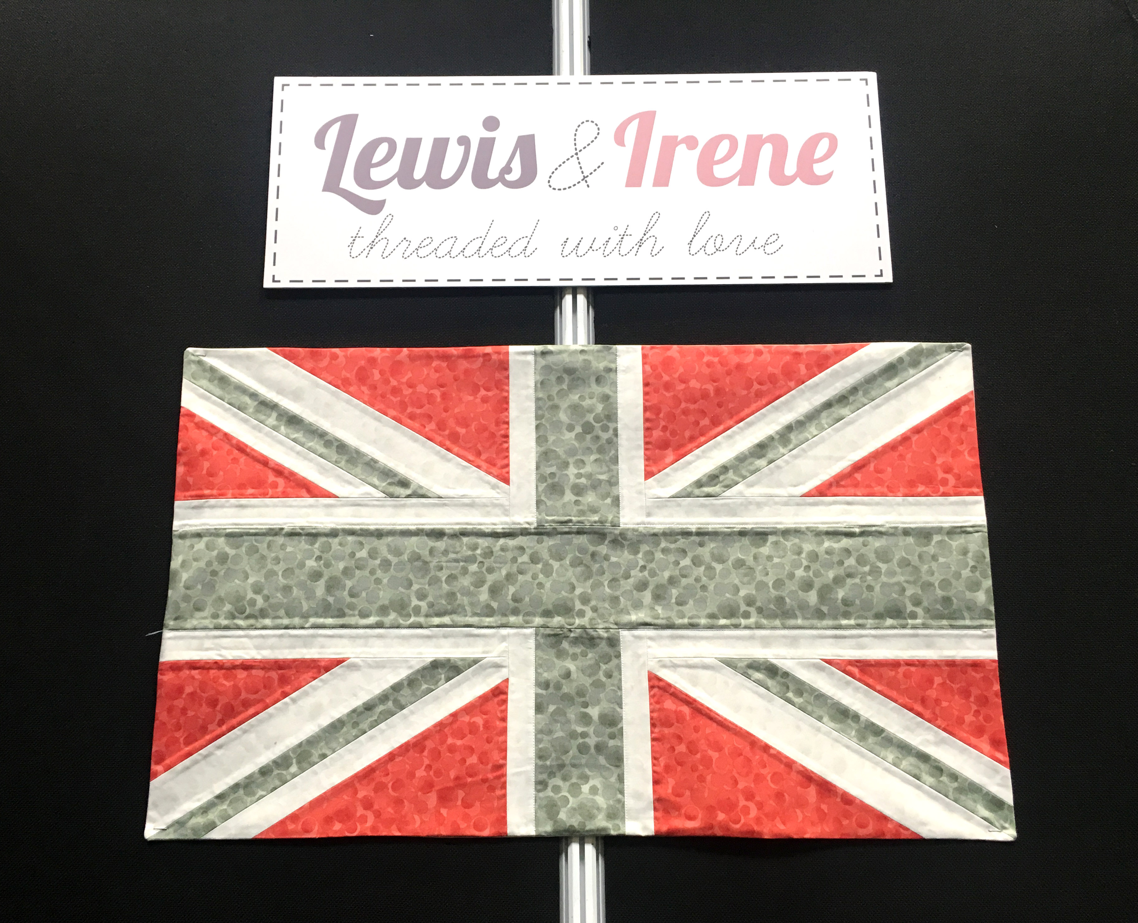Lewis and Irene Fabrics Union Jack Fabric Flag