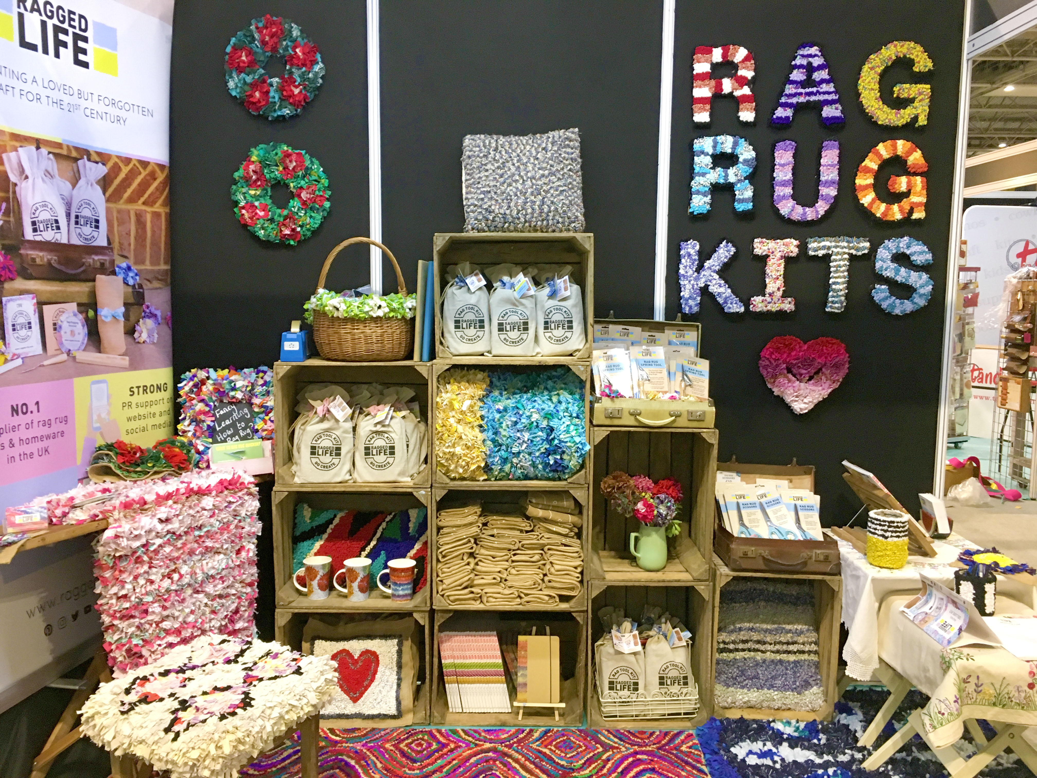 Ragged Life Rag Rug Products at CHSI Stitches Trade Fair 2018