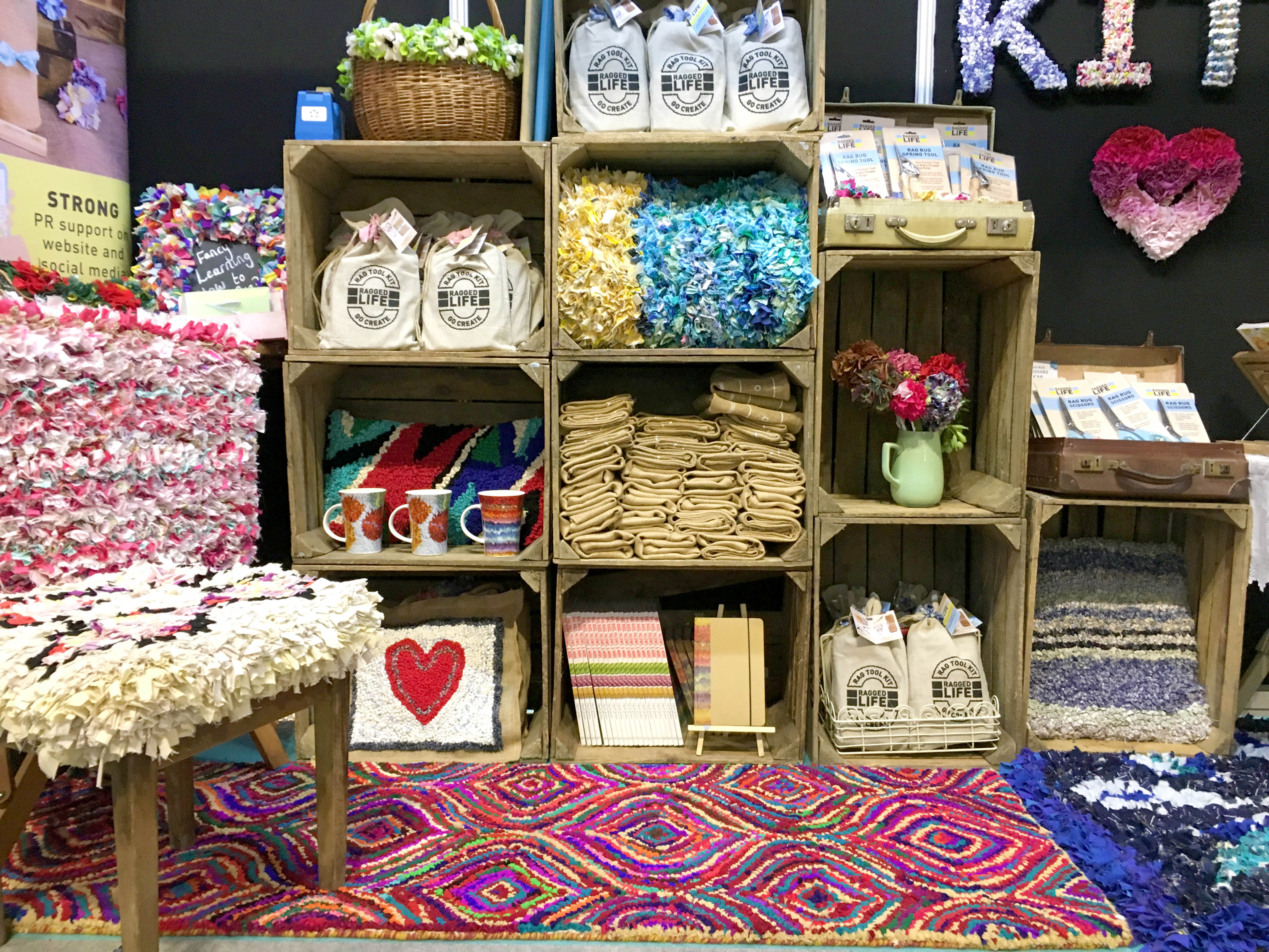 Rag Rug Kits and Hessian at CHSI Stitches in Birmingham 2018
