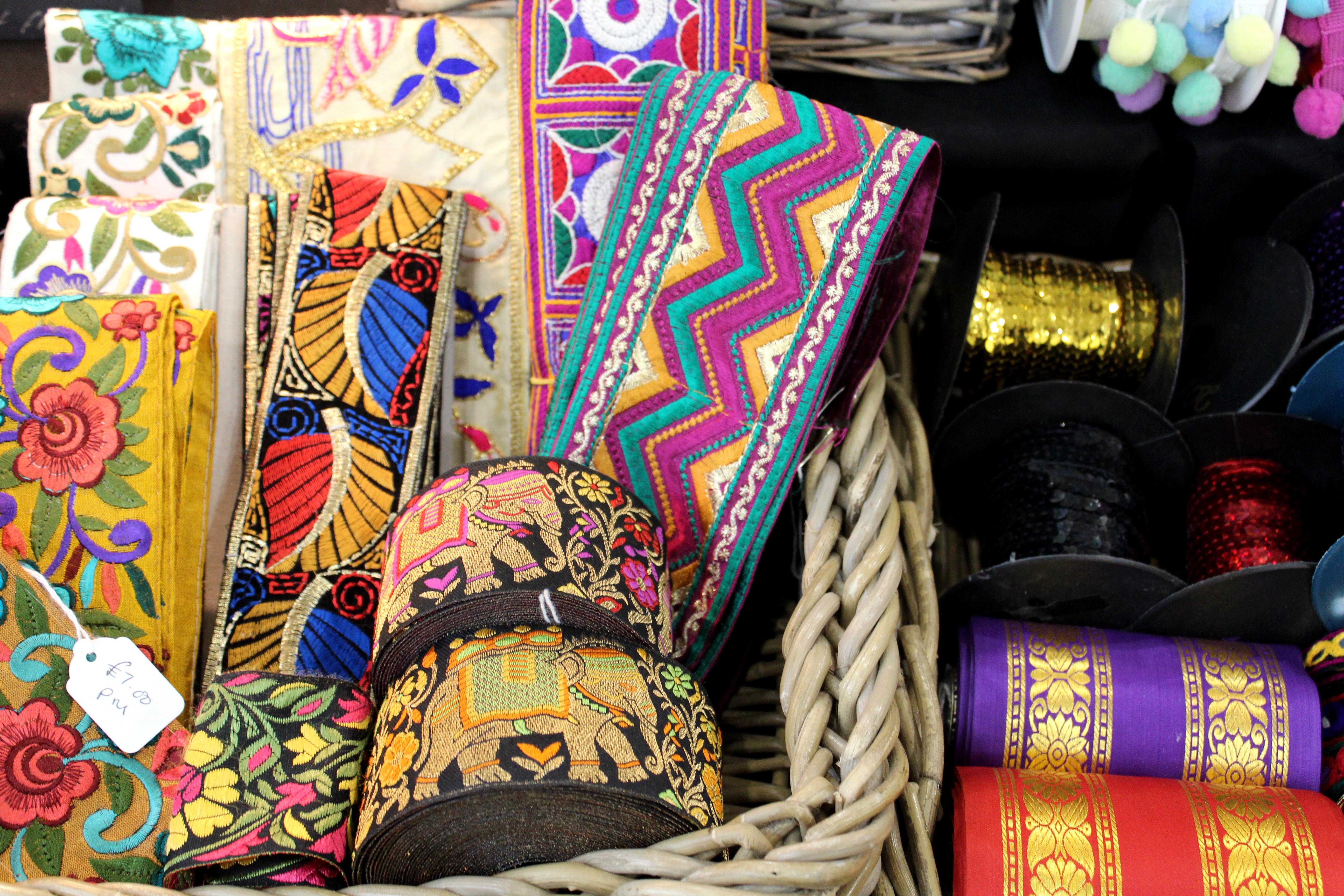 Colourful Indian trims for craft