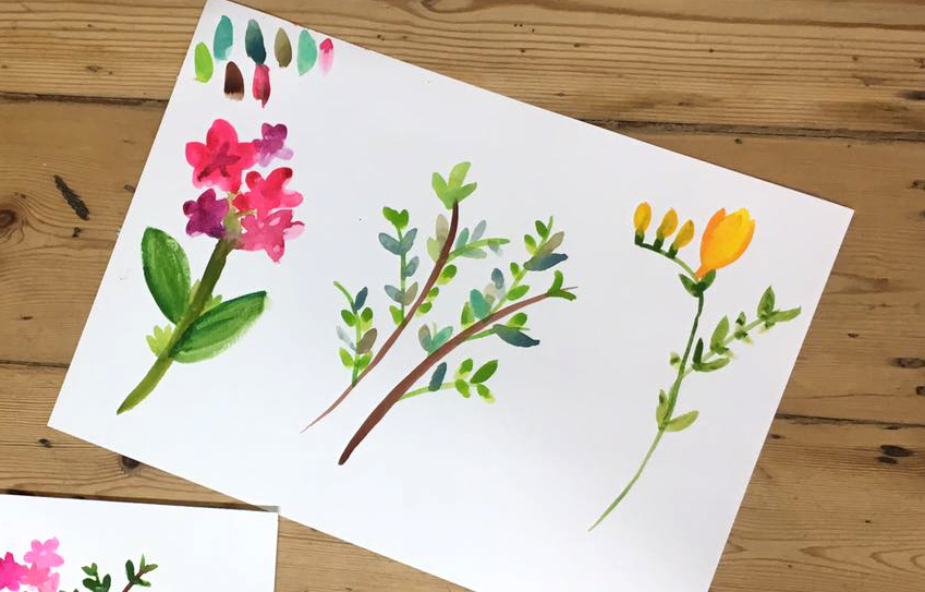 Beginners watercolour workshop in London