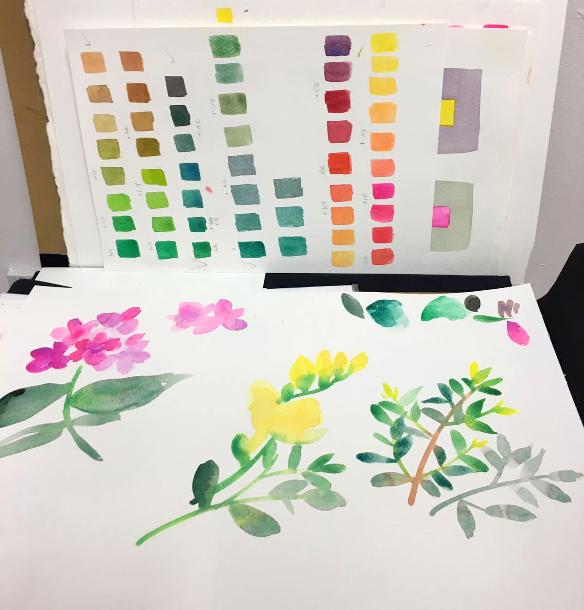 Professional watercolour flowers.