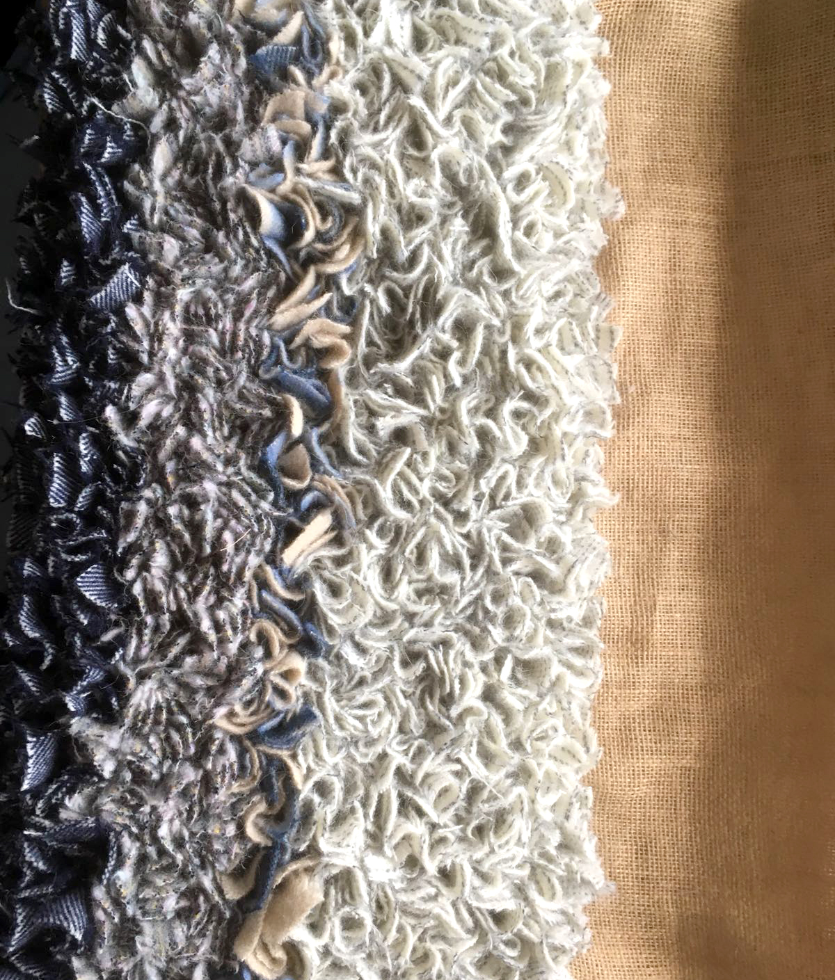 Pretty Pastels Make Our Handknitted Rag Rug The Perfect