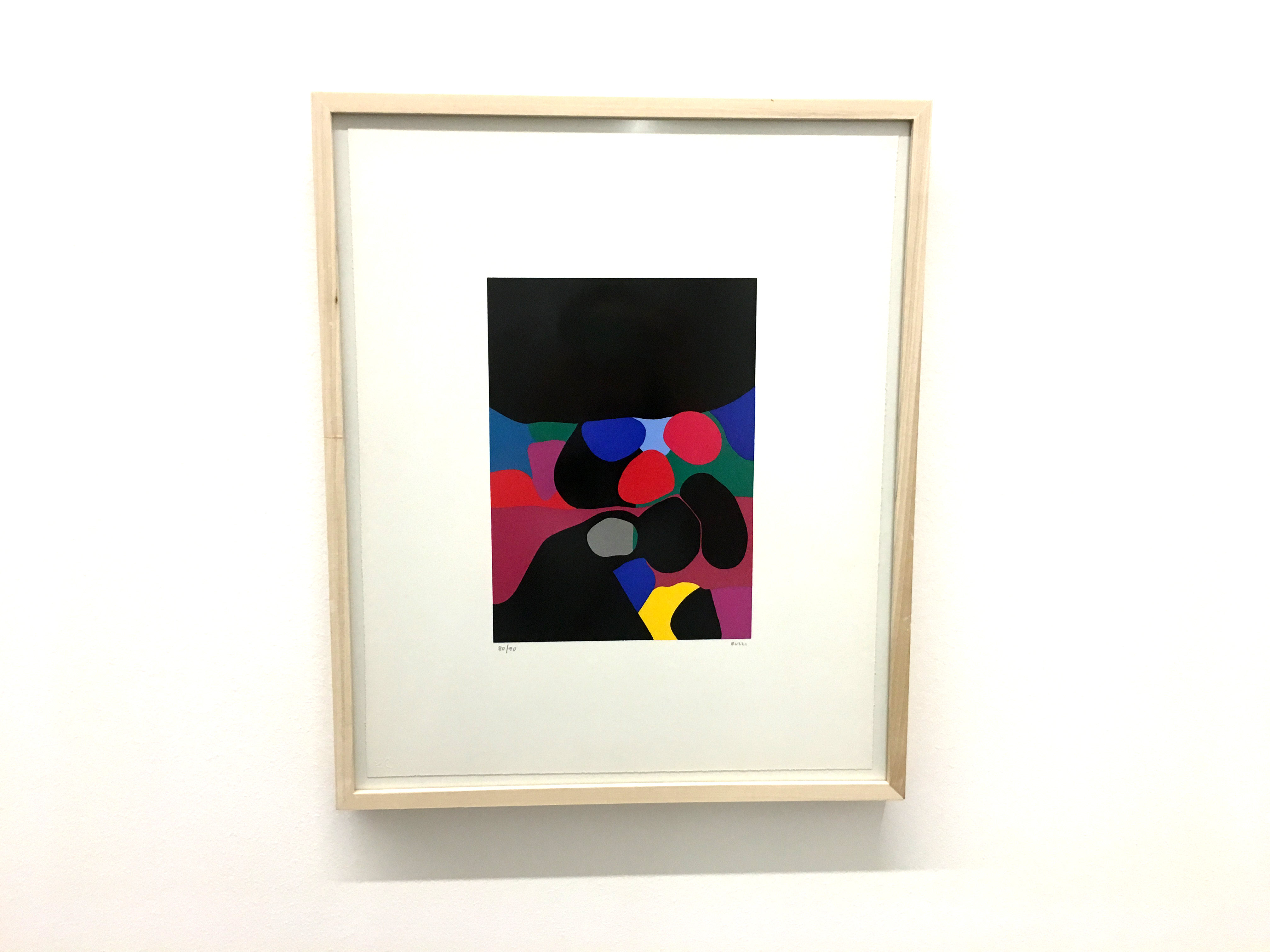 Burri colourful artwork print