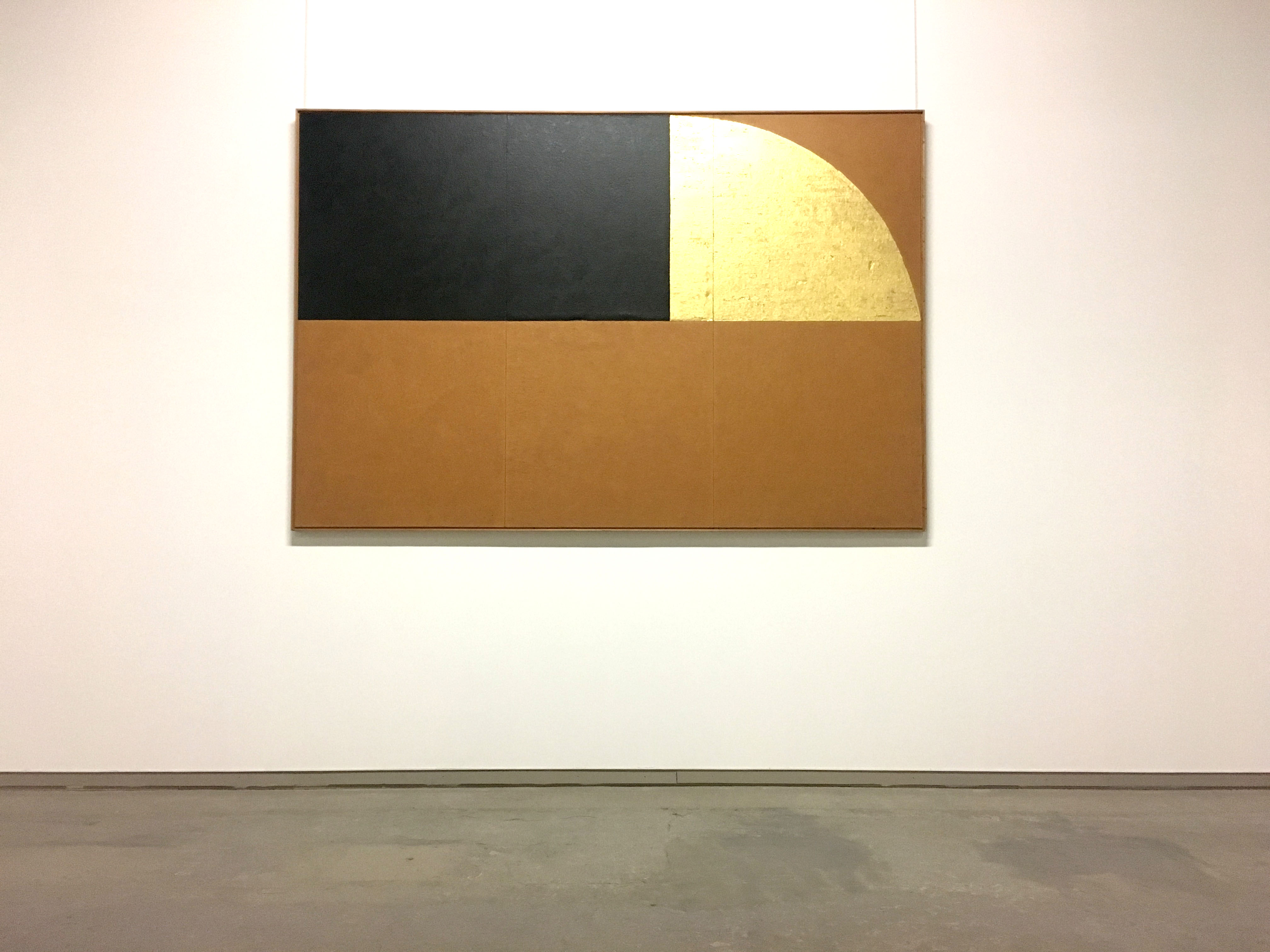 Gold and Black Burri Artwork
