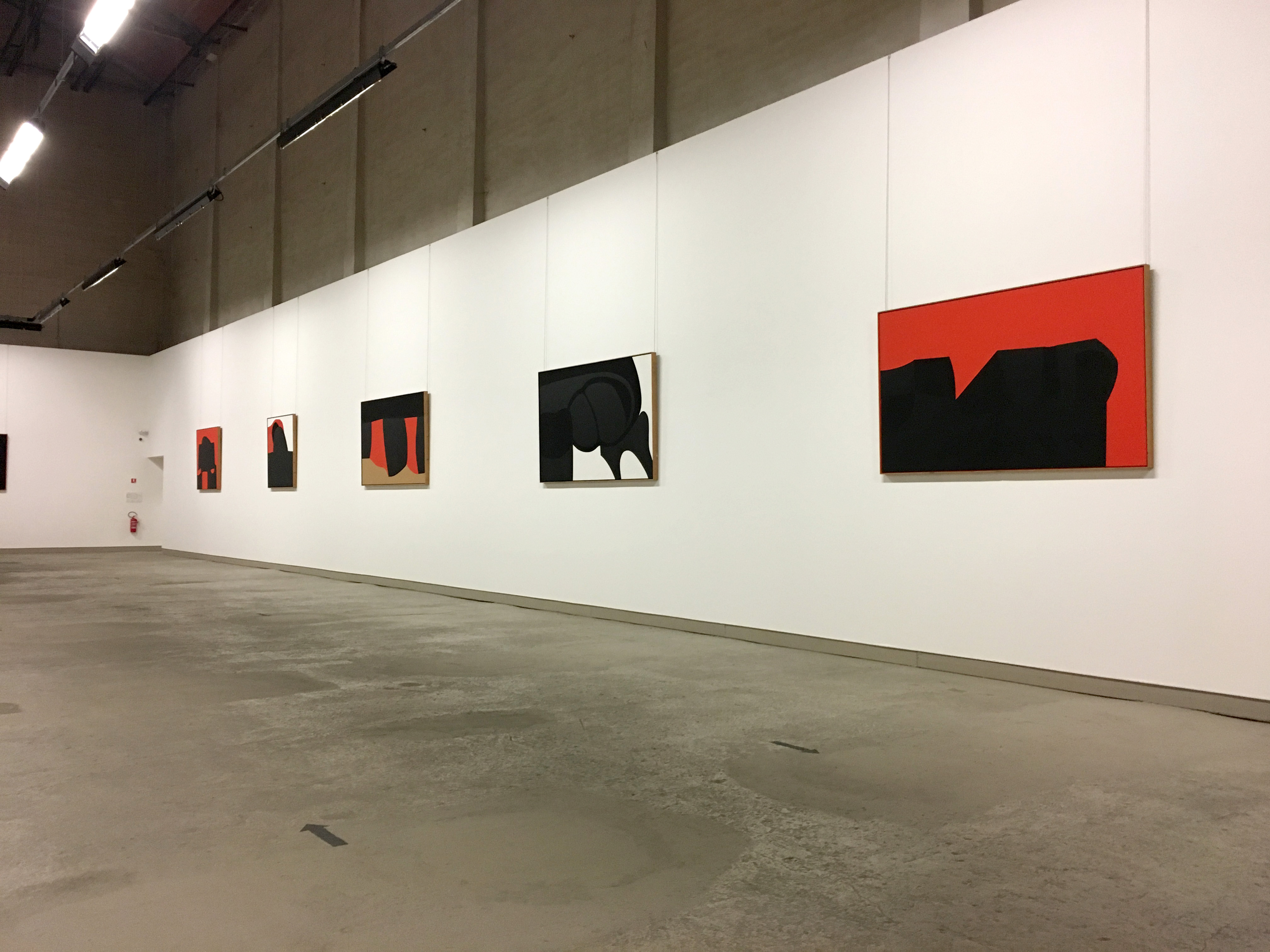 Black and red pieces Alberto Burri Collection Umbria