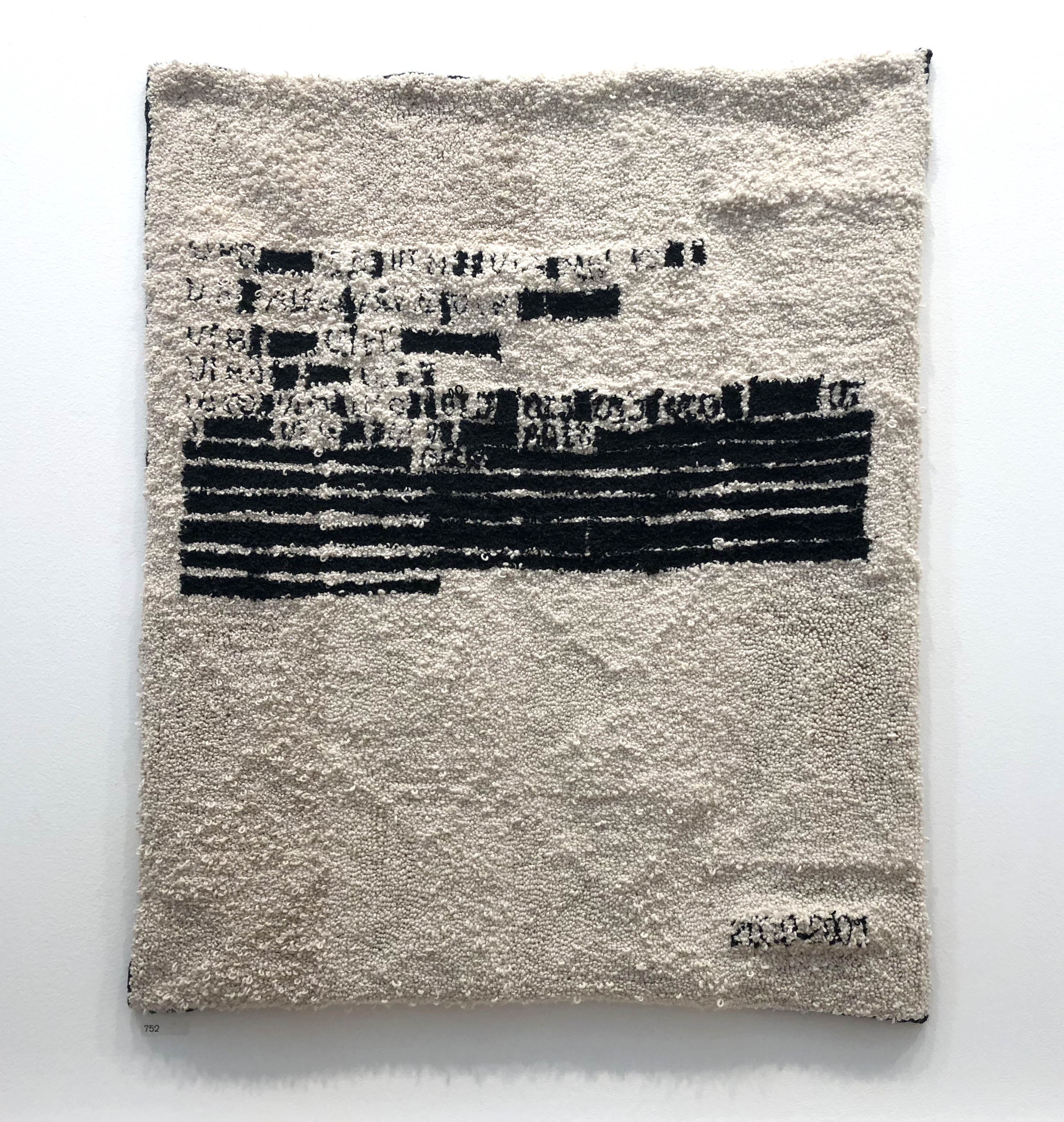 DOC_00000200901.PDF Emily Lazerwitz hooked wall hanging at Royal Academy Summer Exhibition
