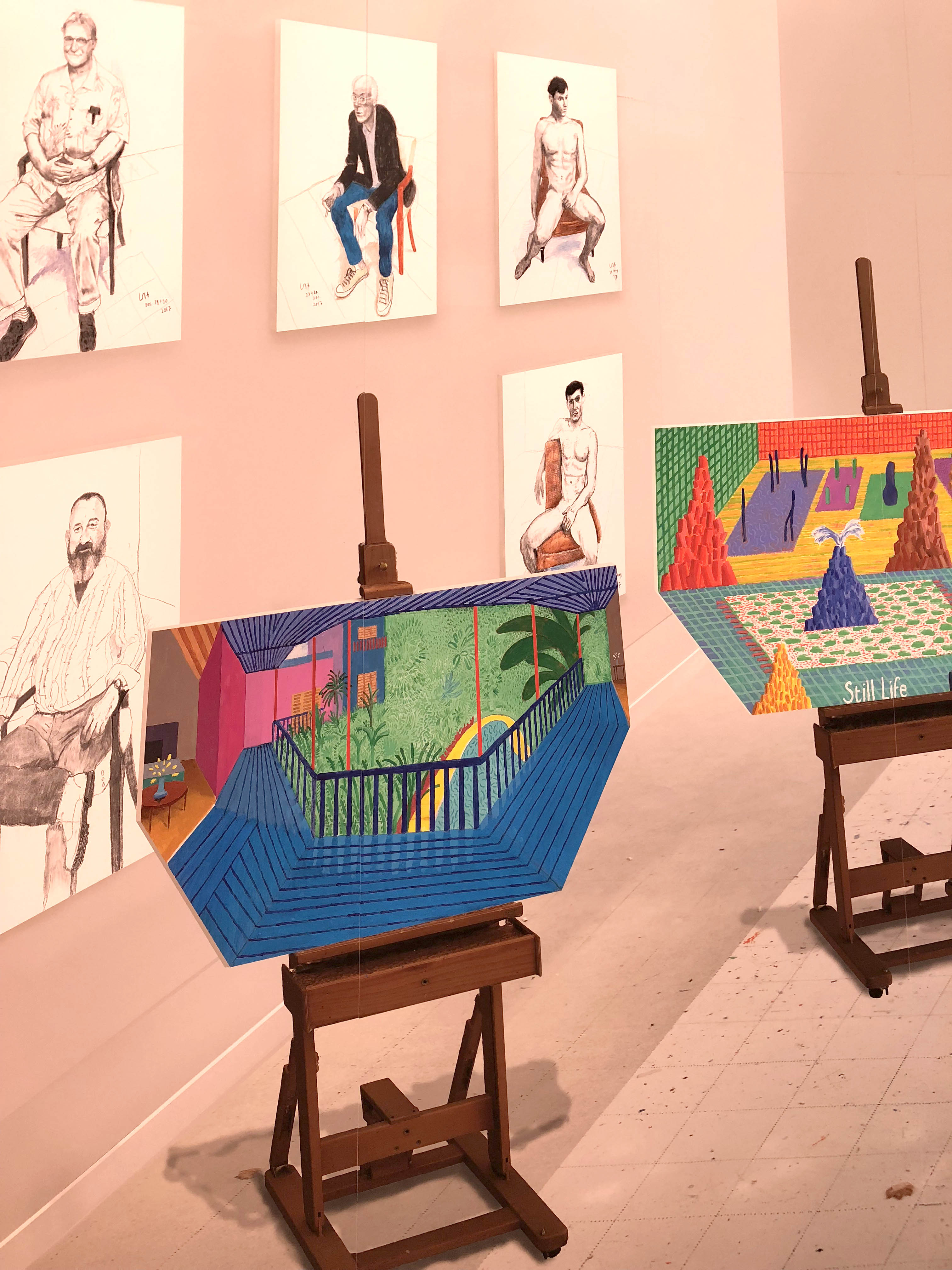 """Inside it Opens up as Well"" by David Hockney"