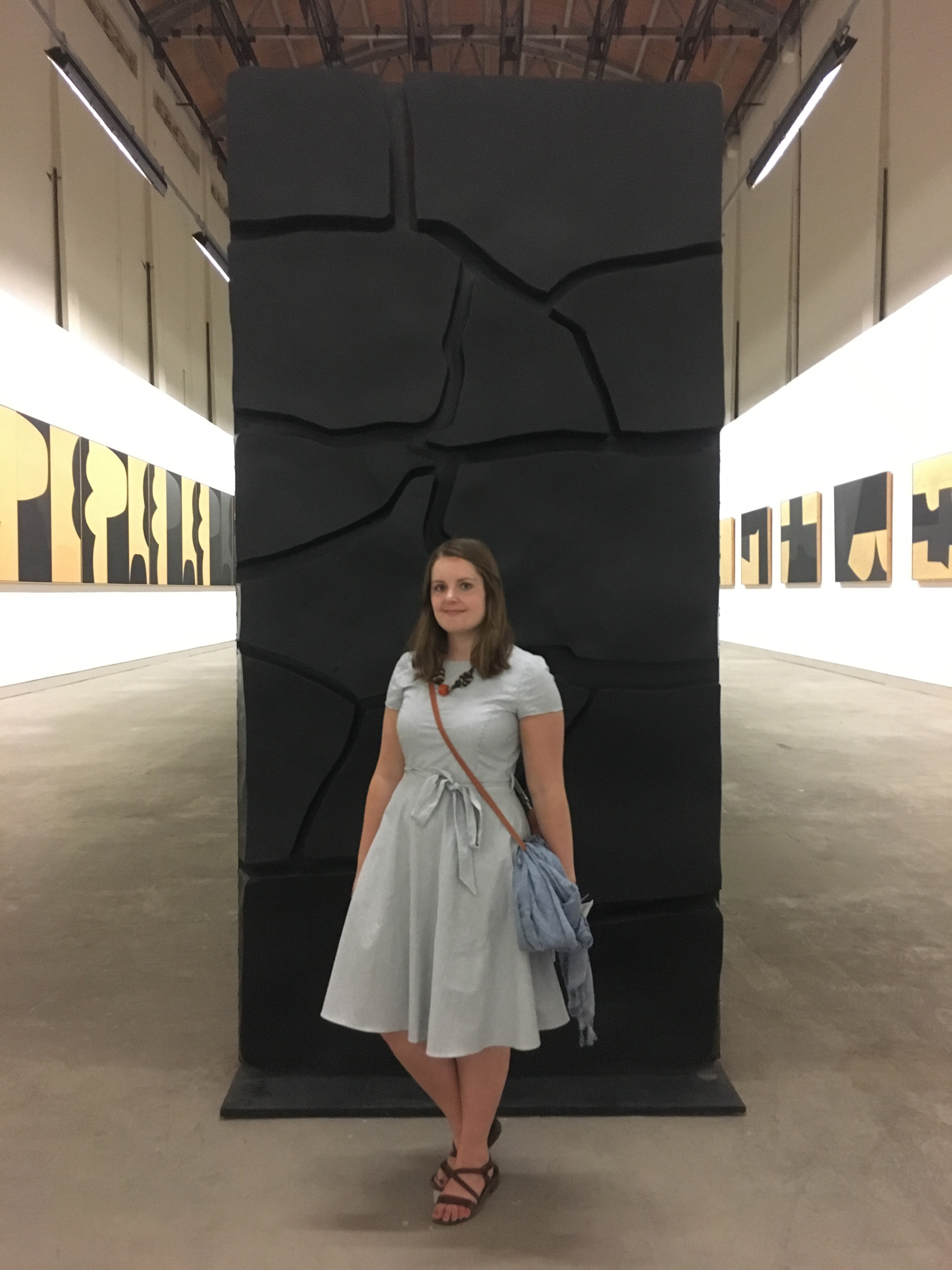 Elspeth Jackson in the Burri exhibition in Italy