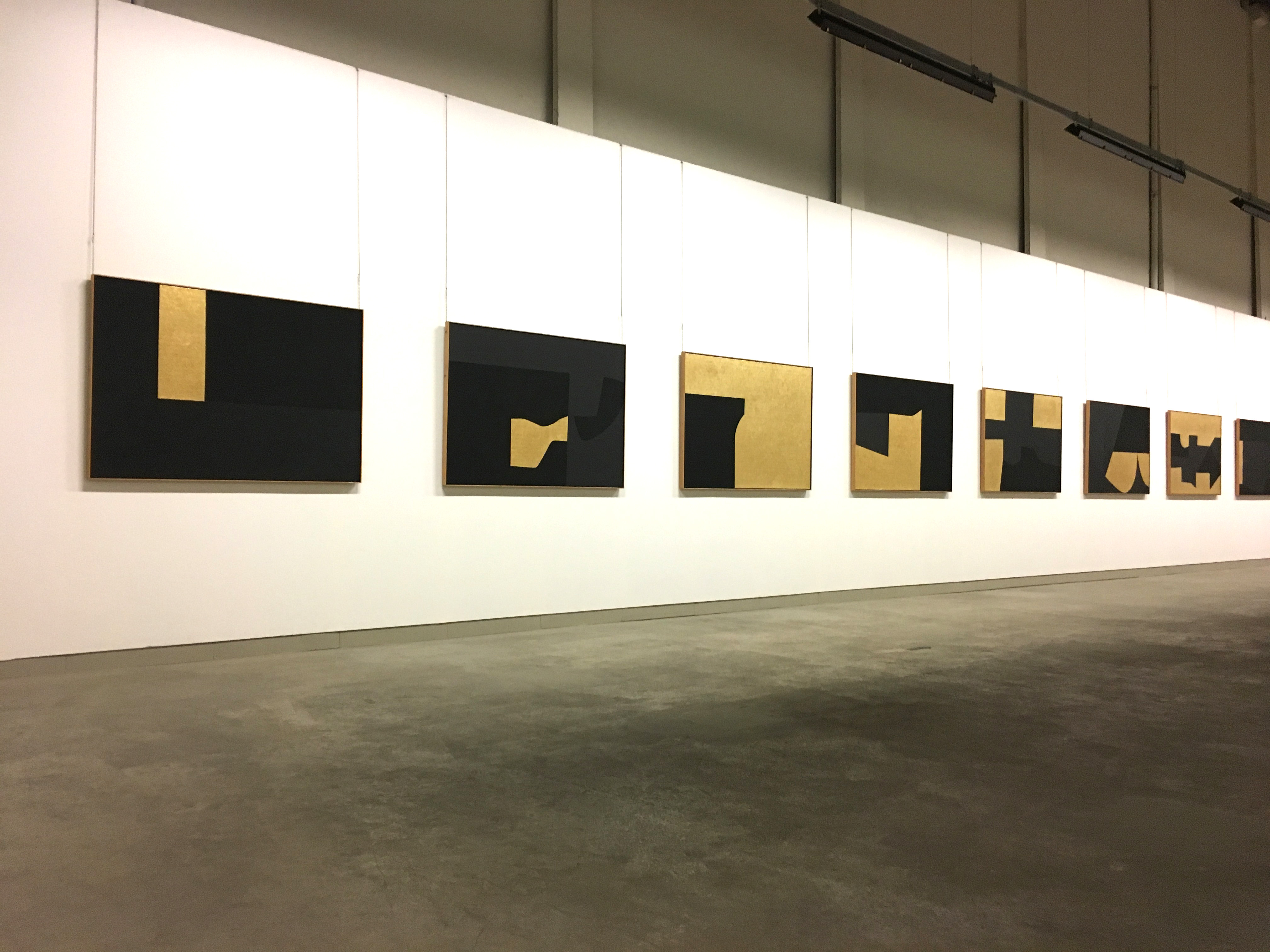 Gold and black artworks Alberto Burri