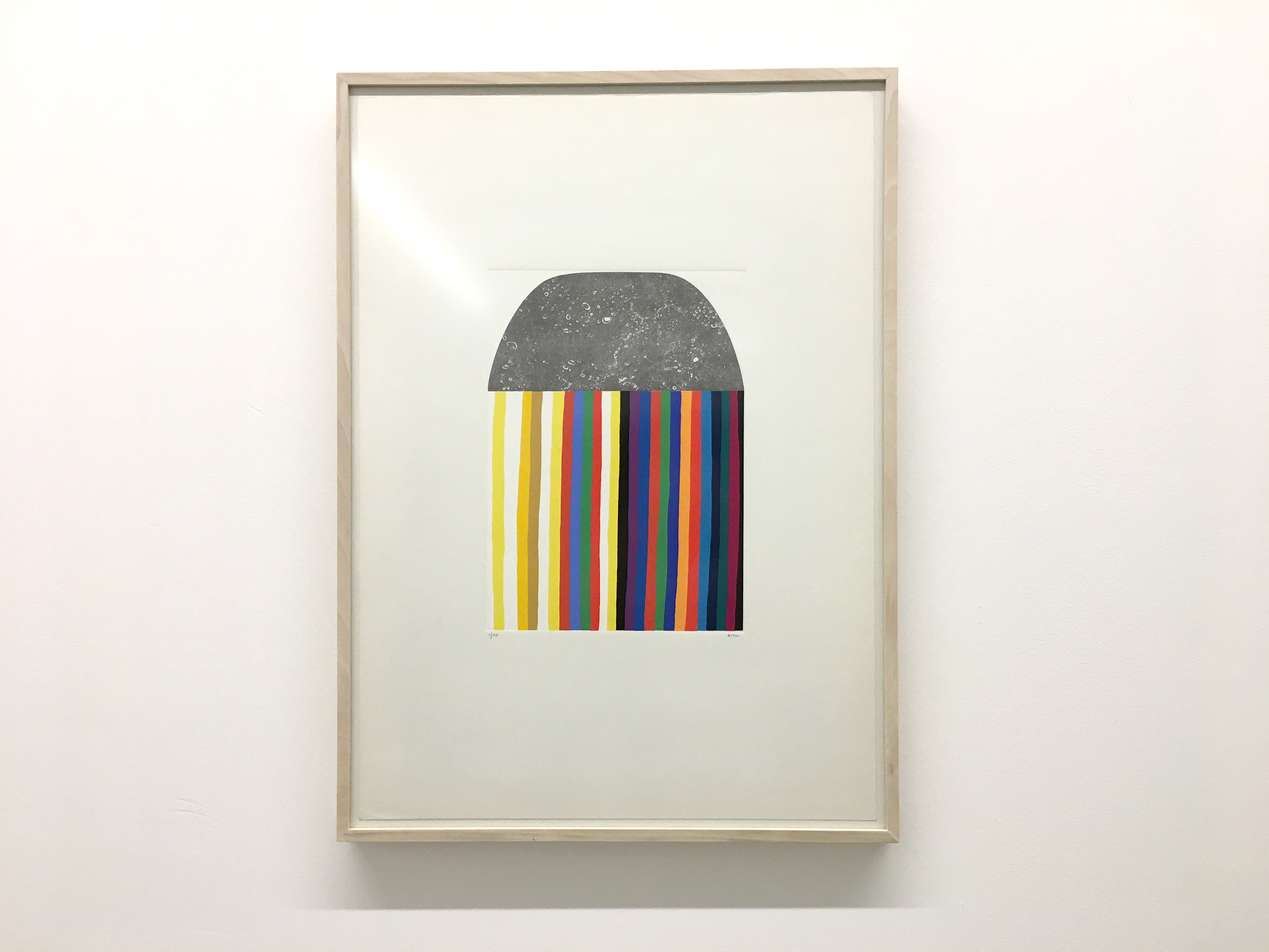 Colourful Burri Artwork Print