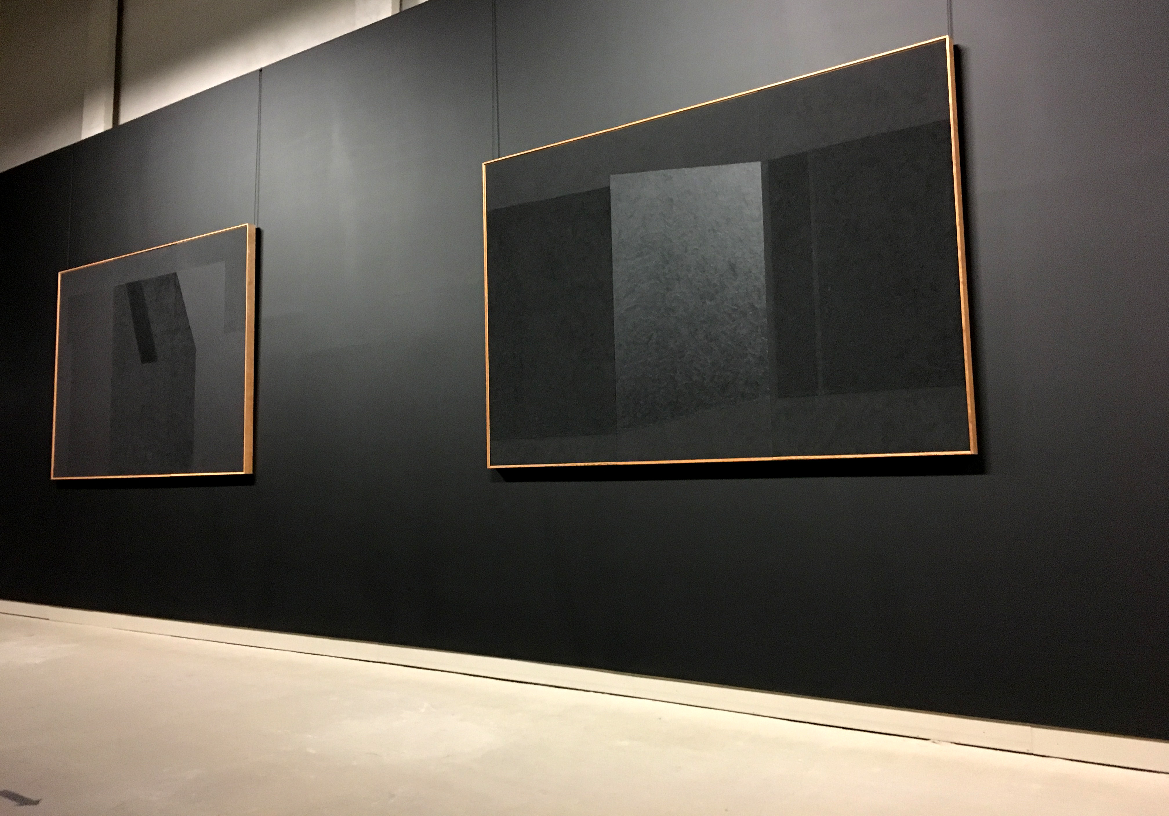 Shades of Black Burri paintings in Umbria