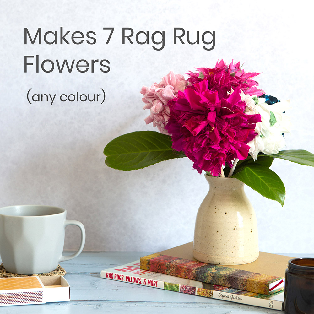 Rag Rug Bouquet of Fabric Flowers