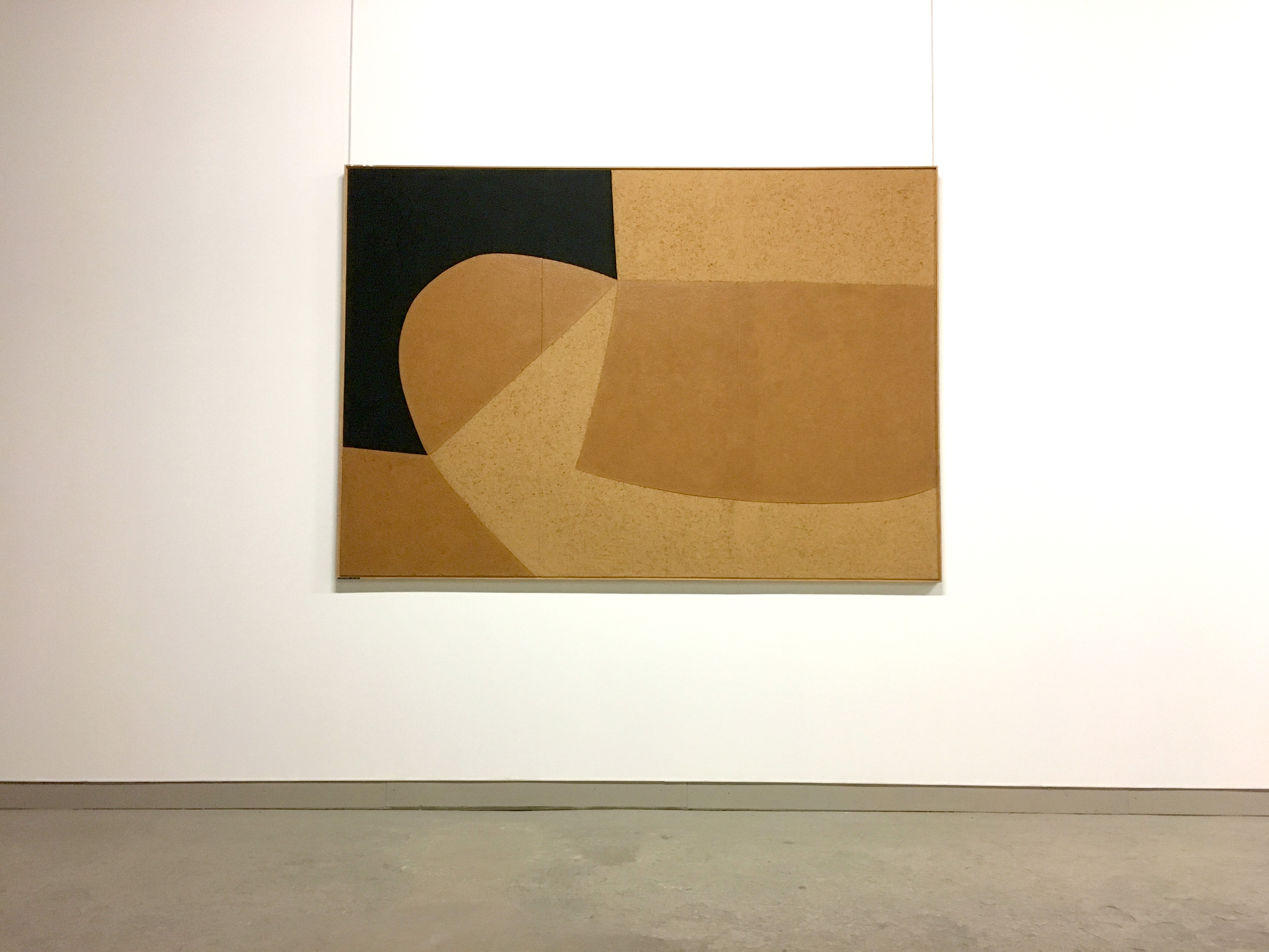 Alberto Burri black and cork coloured artwork
