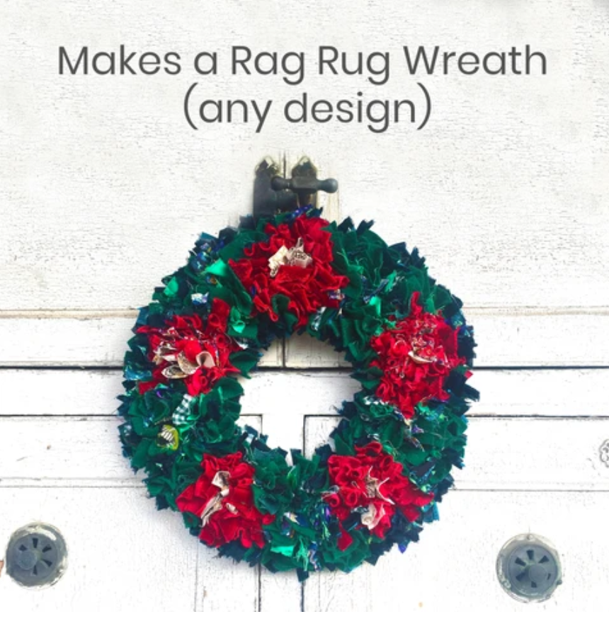 Rag Rug Christmas Wreath