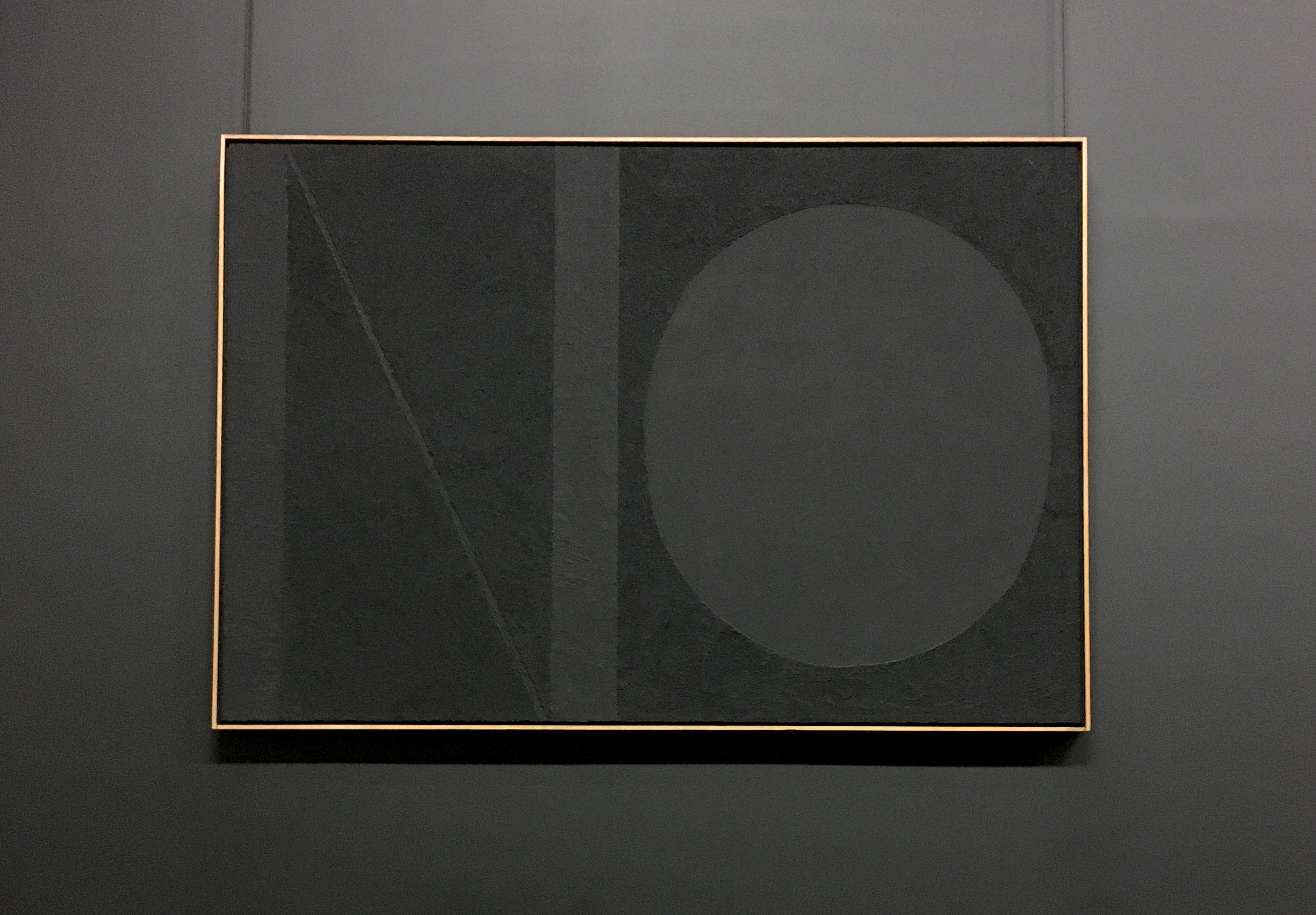 Shades of black painting Burri