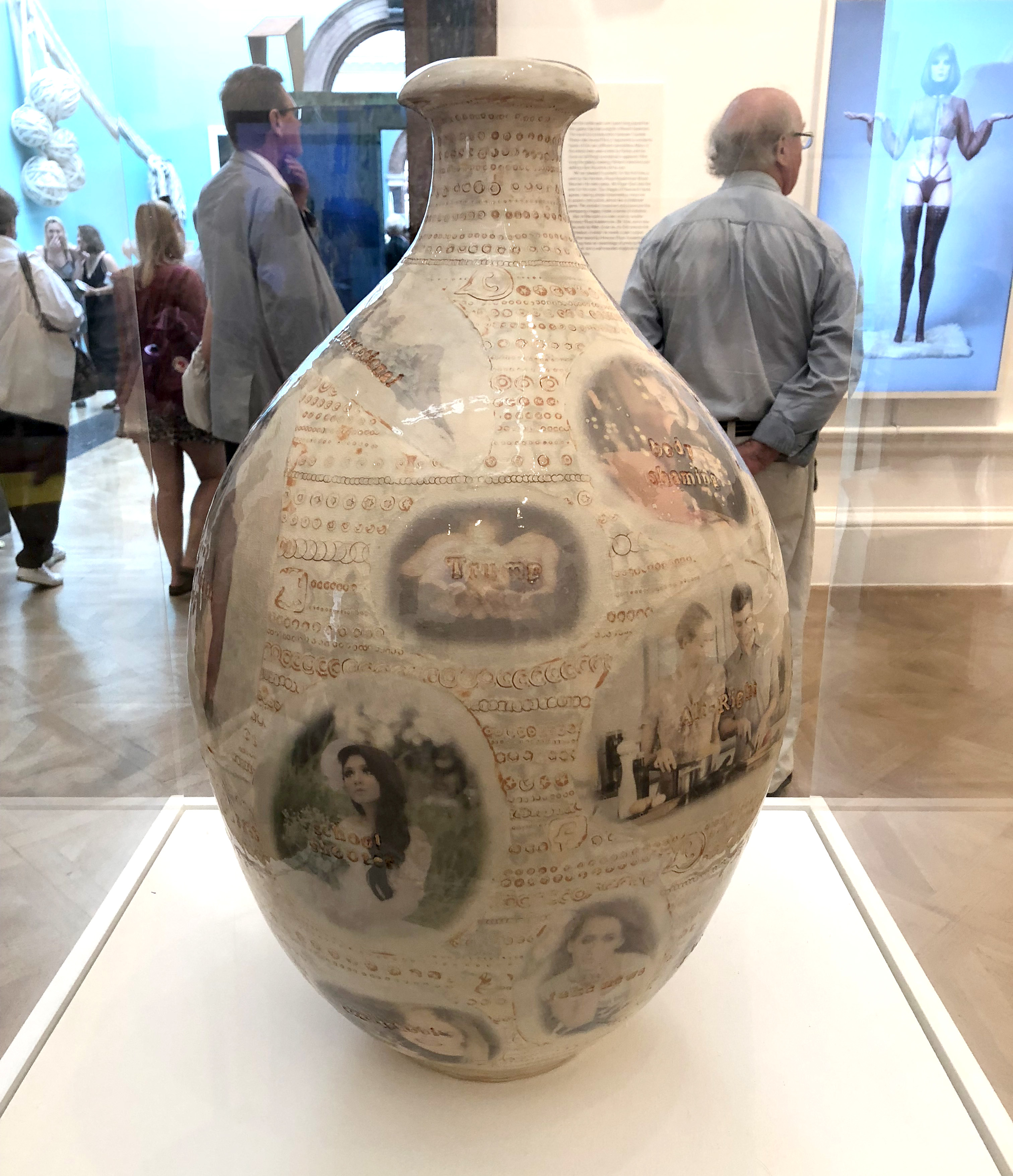 Stupid White Thing Vase by Grayson Perry at Summer Exhibition at the Royal Academy of Arts 2018