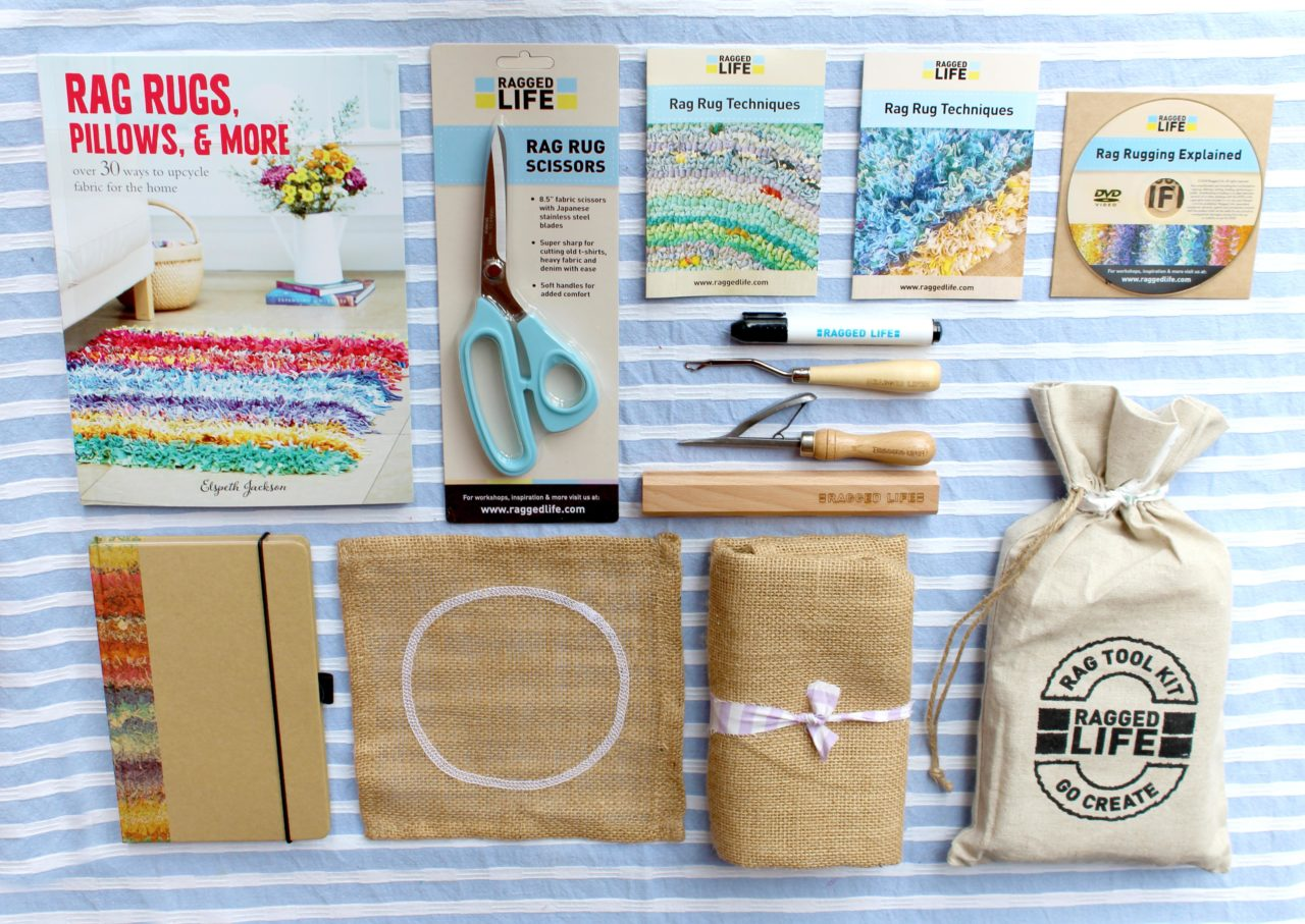 Ragged Life Ultimate Rag Rug Kit Kit Contents with all the tools and instructions